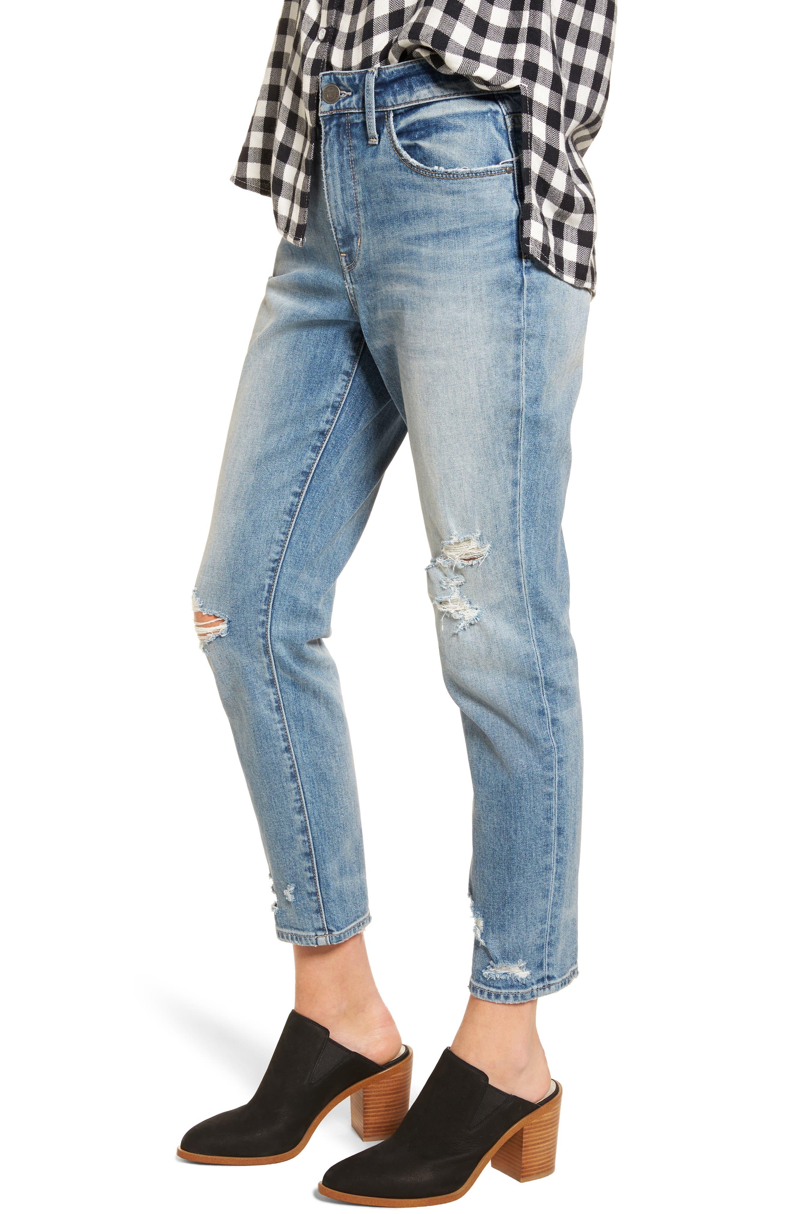 Loose Fit Slim Jeans,                             Alternate thumbnail 3, color,                             Gravel Light Destroy