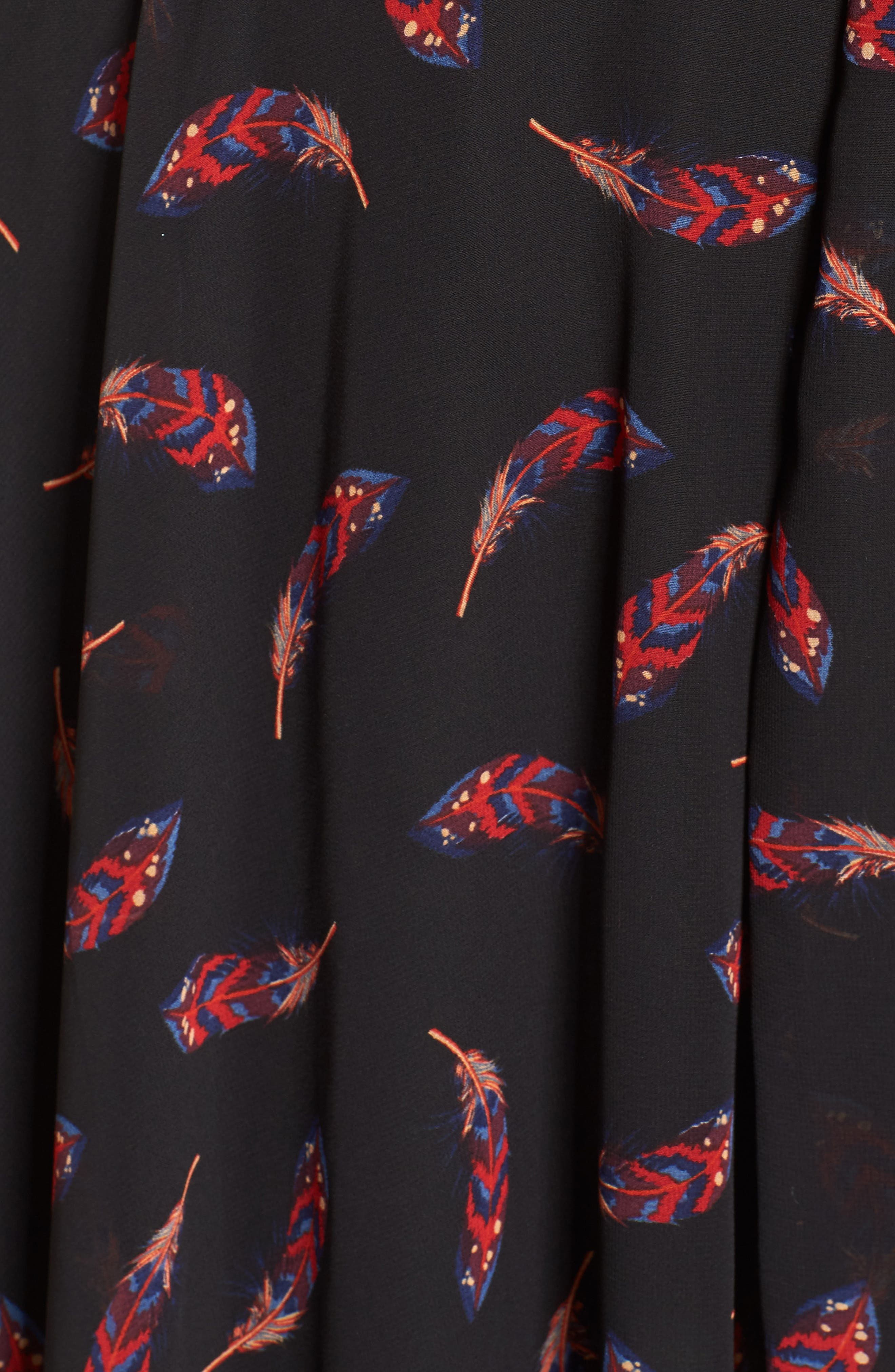 Handkerchief Hem Dress,                             Alternate thumbnail 5, color,                             Feather
