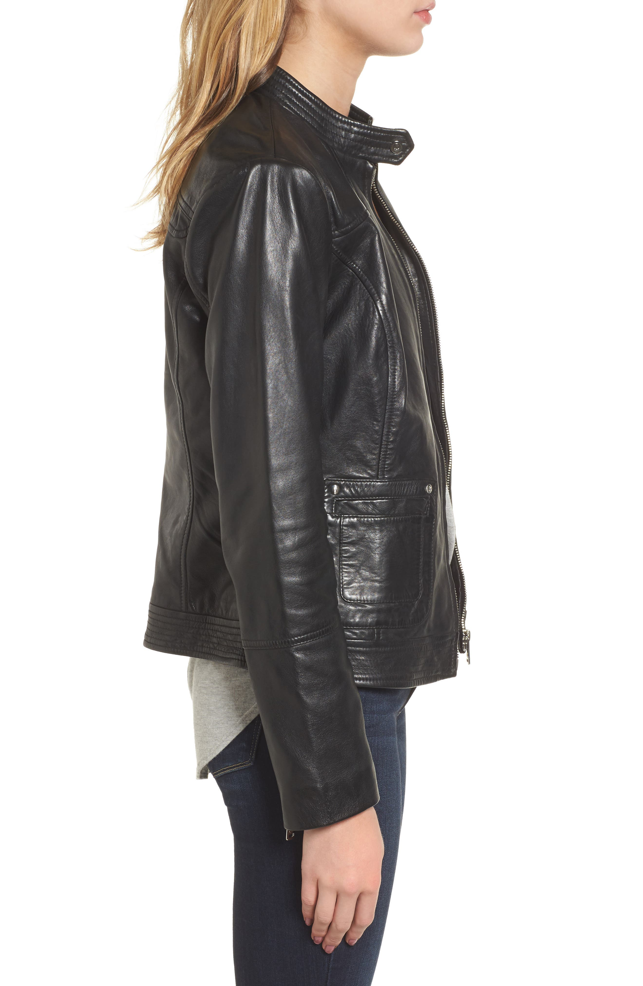 Alternate Image 3  - Bernardo Leather Moto Jacket