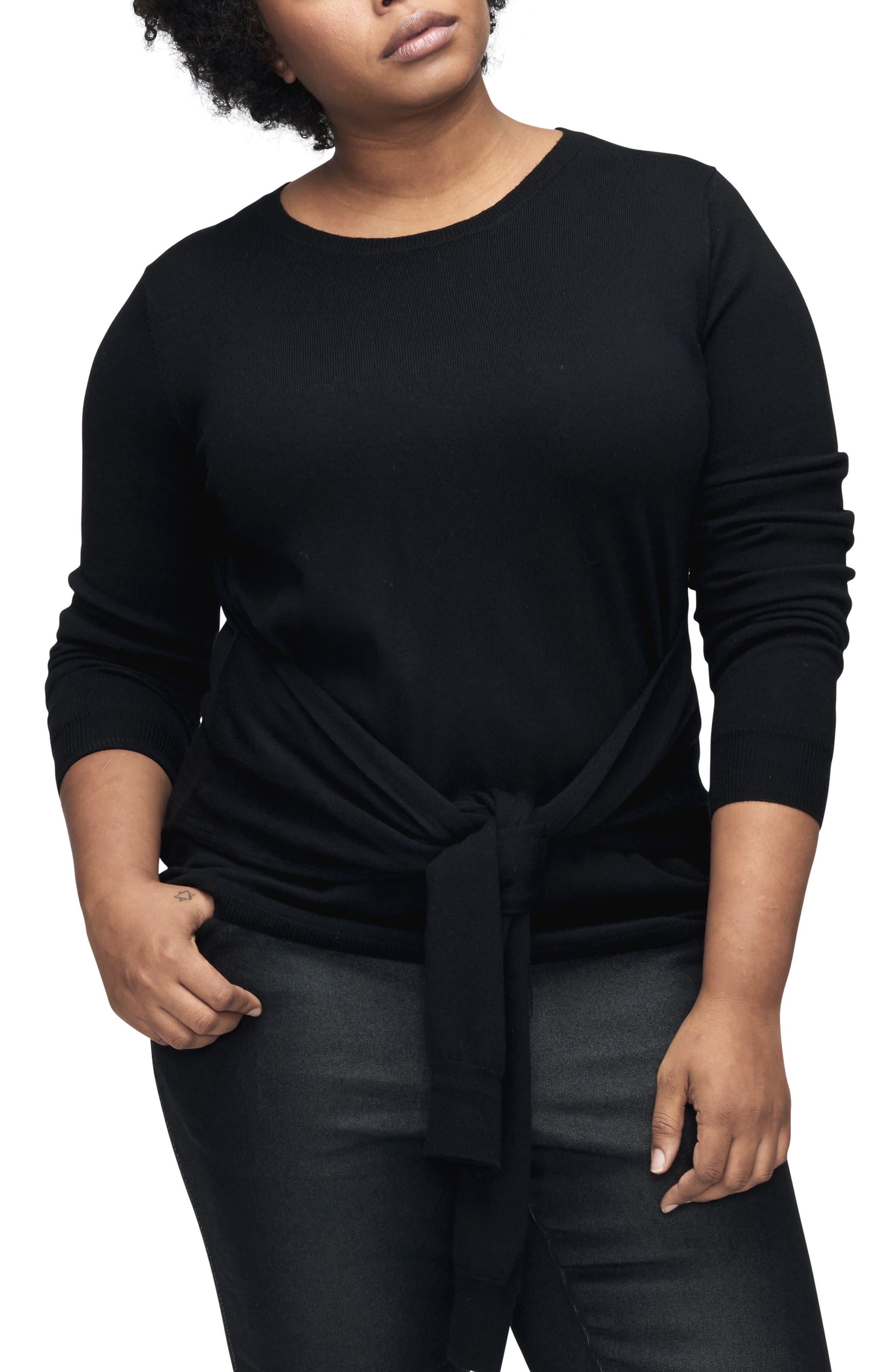 UNIVERSAL STANDARD Mae Tie Front Sweater
