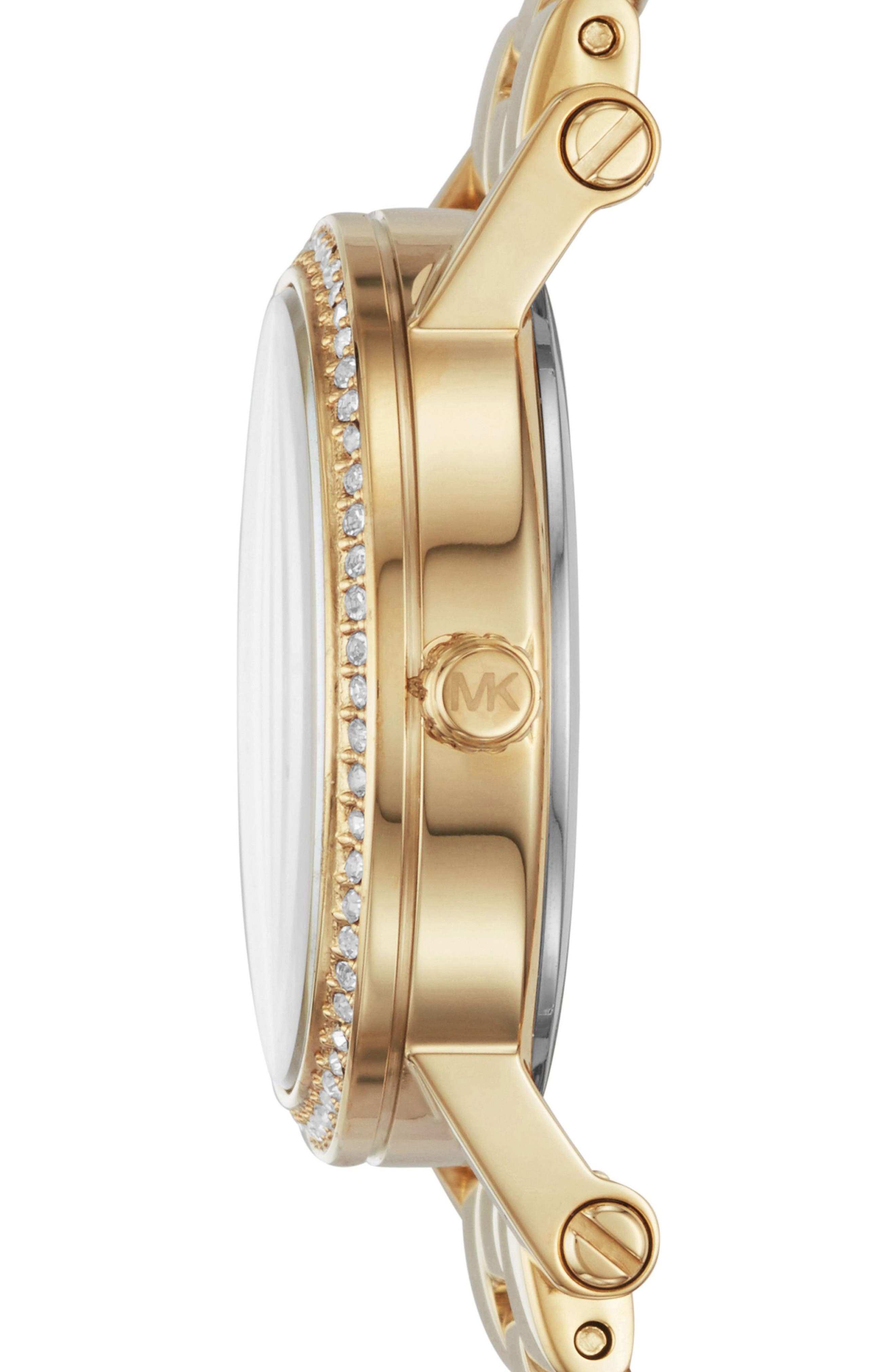 Alternate Image 2  - Michael Kors Petite Norie Pavé Bracelet Watch, 28mm