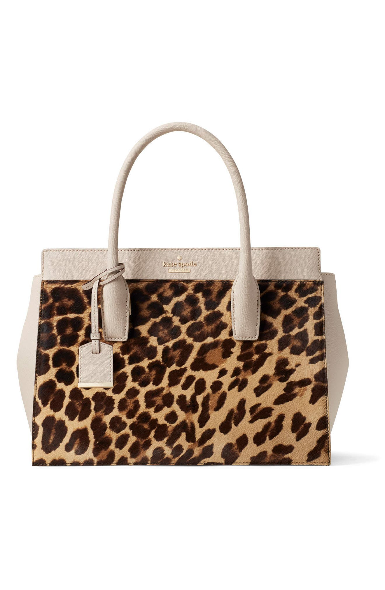 Alternate Image 4  - kate spade new york make it mine reversible solid leather/leopard-print genuine calf hair snap-on accent flap
