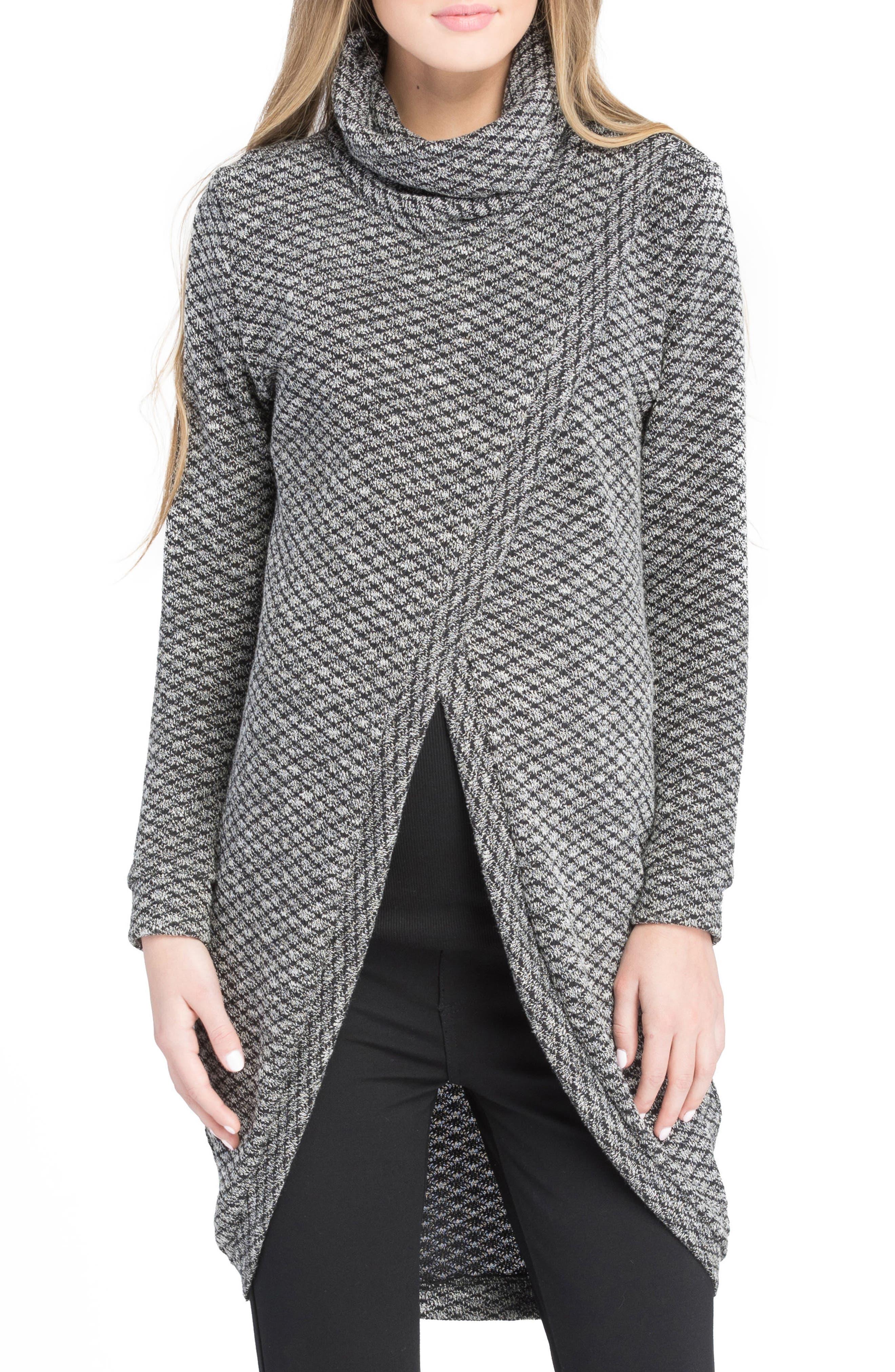 Nursing Tunic Sweater,                             Main thumbnail 1, color,                             Black