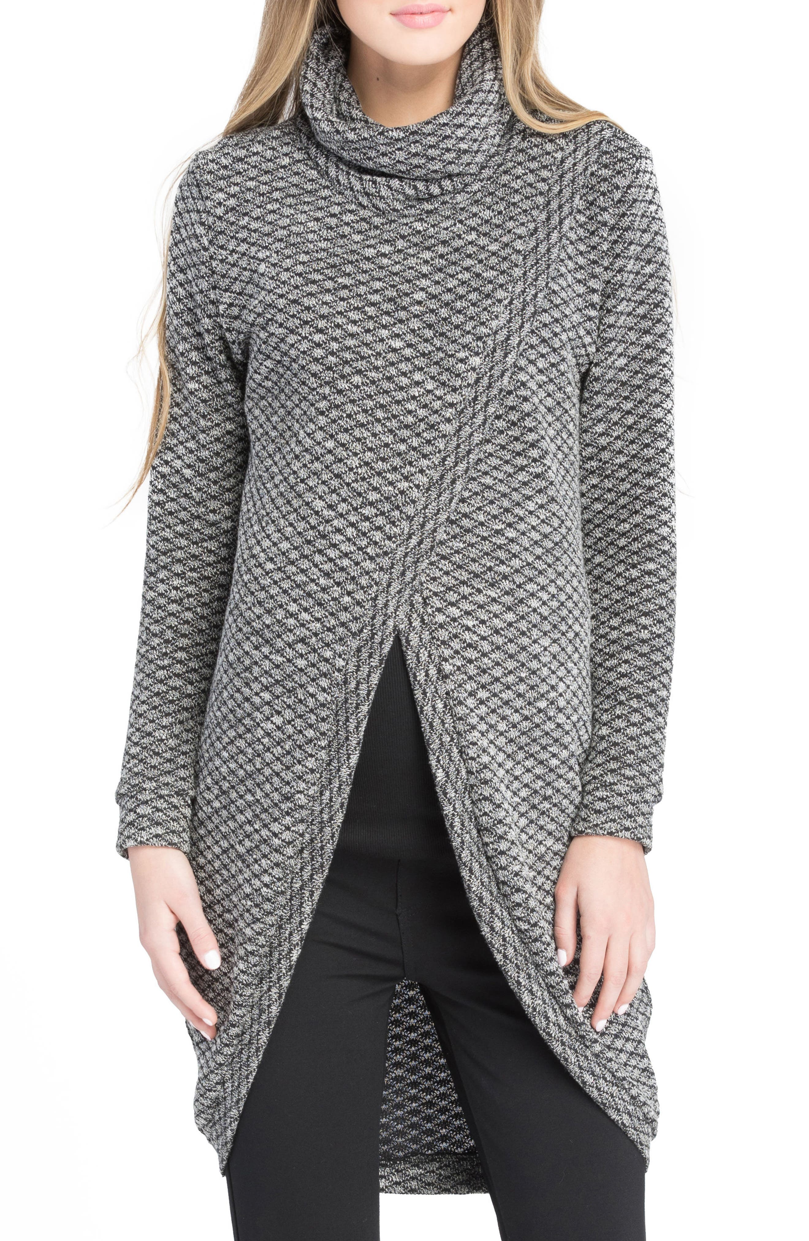 Nursing Tunic Sweater,                         Main,                         color, Black