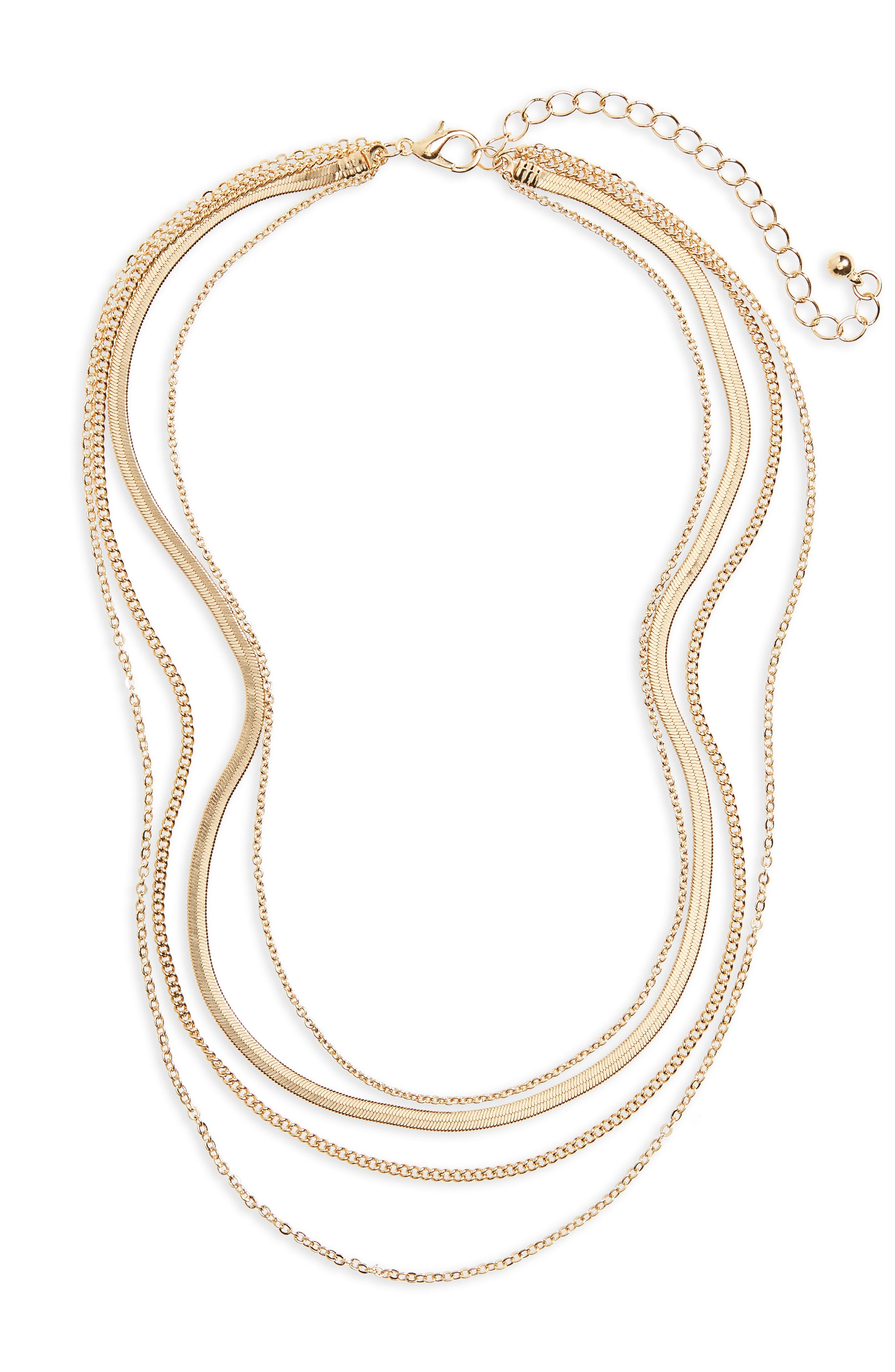 Main Image - BP. Layered Chain Necklace
