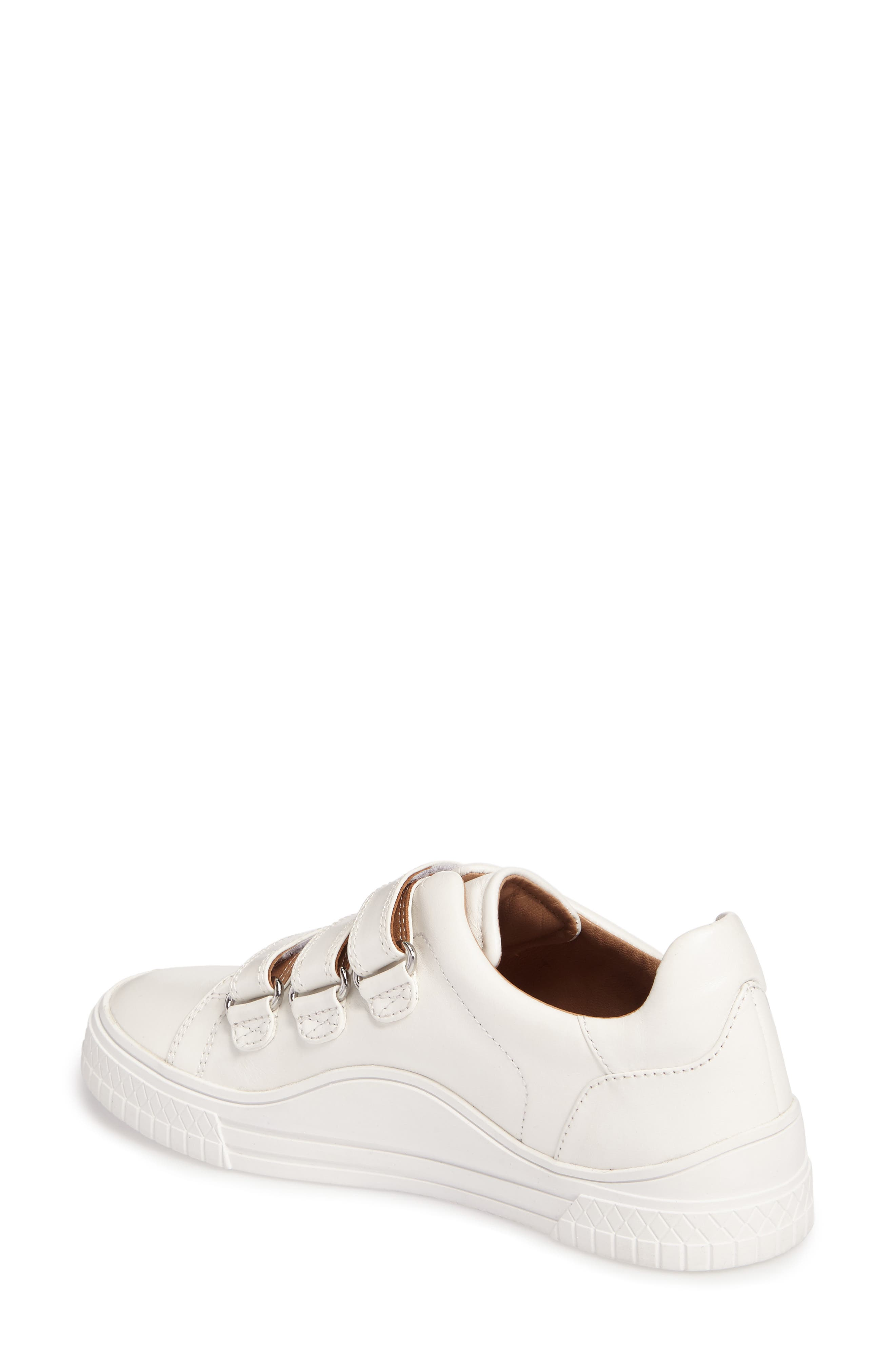 Grace Sneaker,                             Alternate thumbnail 2, color,                             White Leather