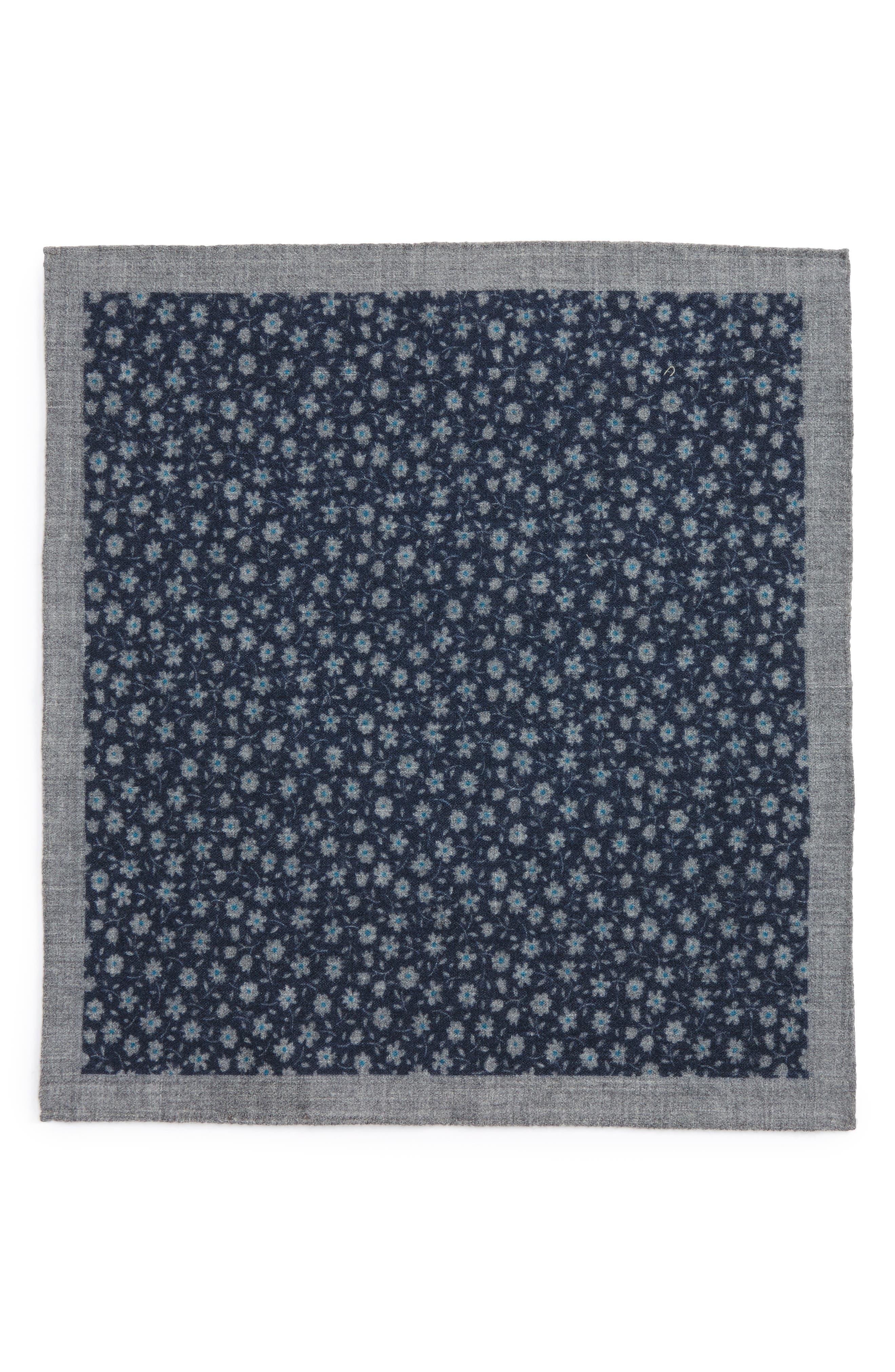 Alternate Image 2  - Ted Baker London Patterned Wool Pocket Square