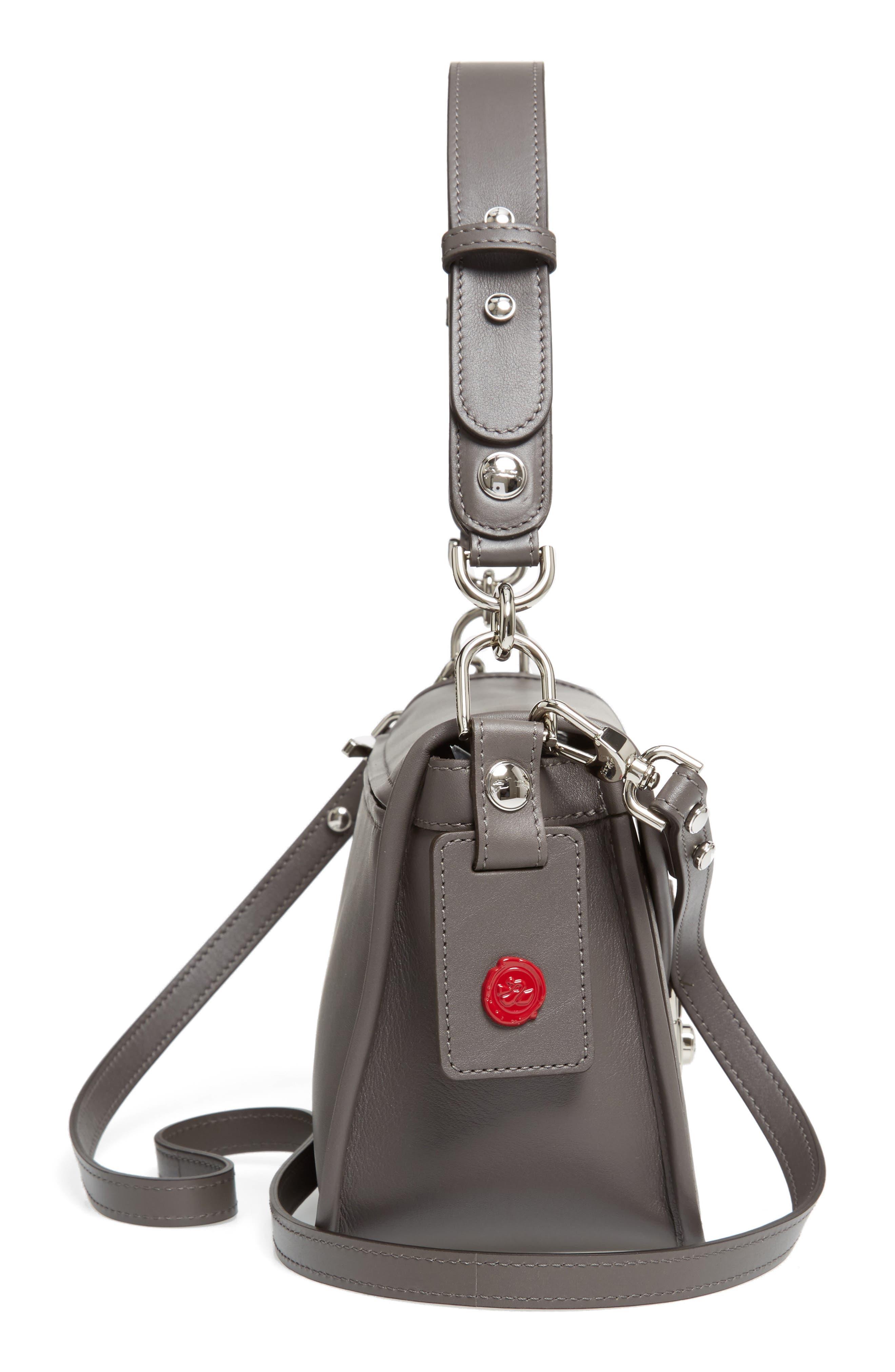 Alternate Image 4  - Longchamp Mademoiselle Calfskin Leather Crossbody Bag