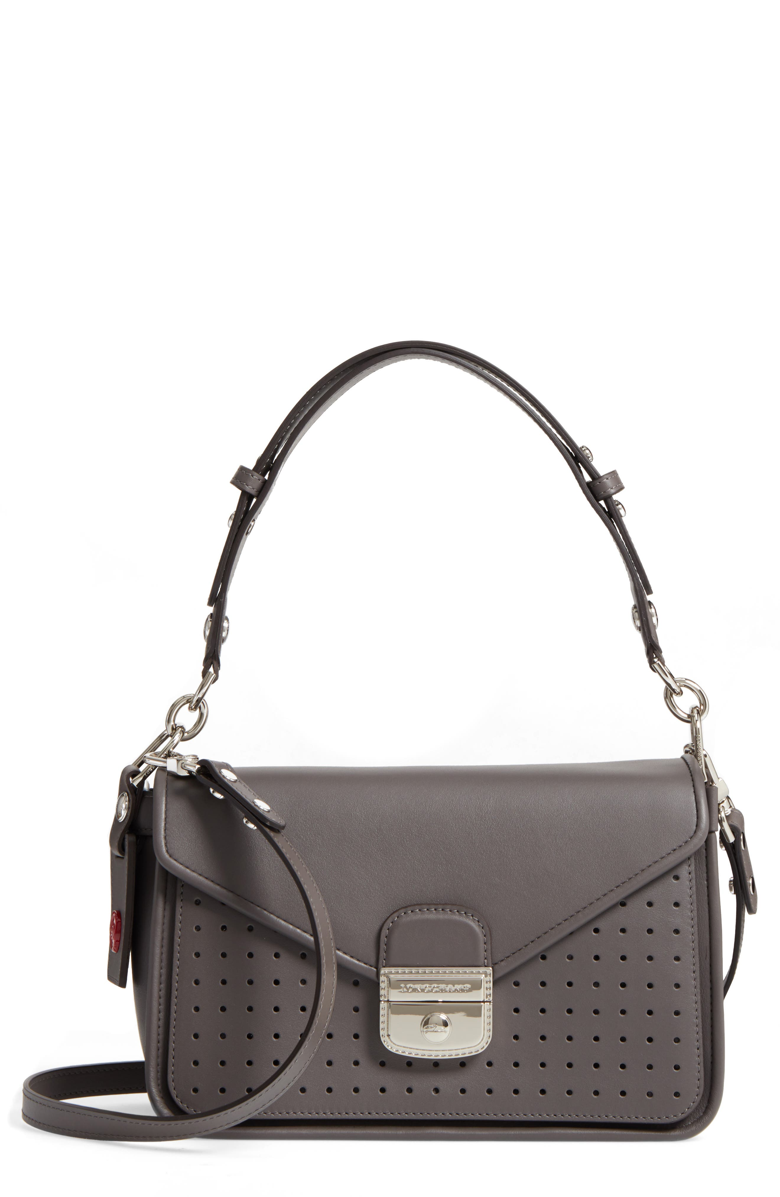 Alternate Image 1 Selected - Longchamp Mademoiselle Calfskin Leather Crossbody Bag