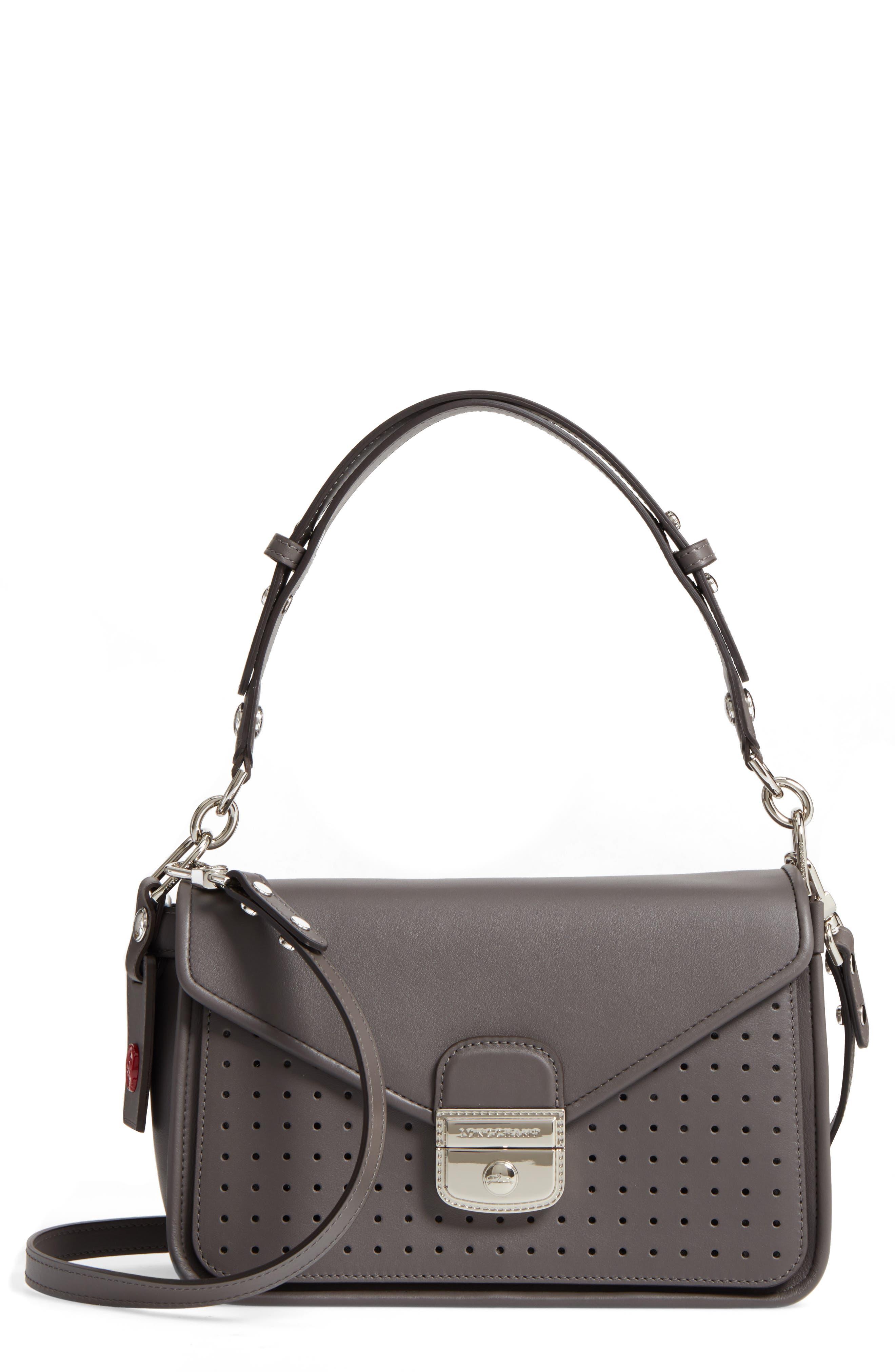 Main Image - Longchamp Mademoiselle Calfskin Leather Crossbody Bag