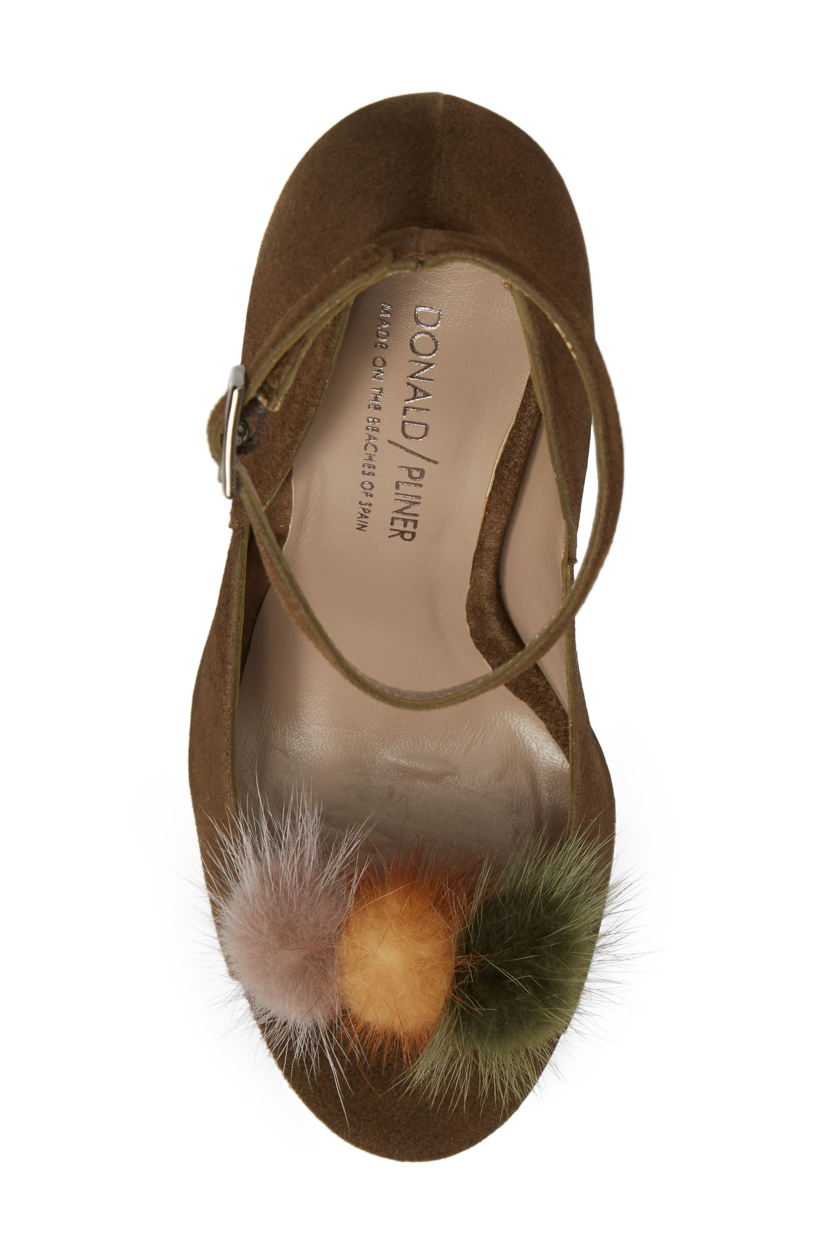 Alternate Image 4  - Donald J Pliner Genuine Mink Fur Pump (Women)
