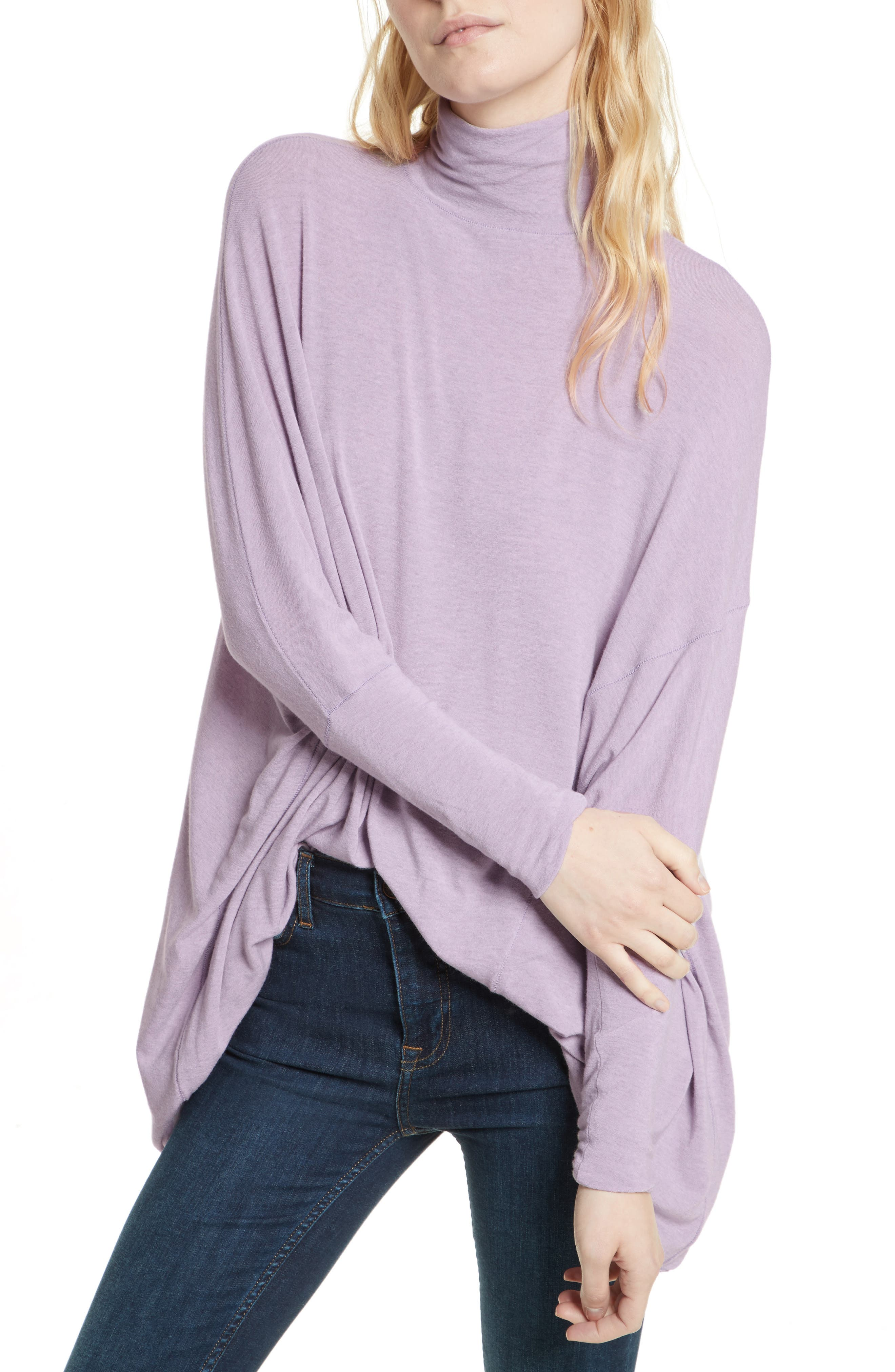 Main Image - Free People We the Free Terry Turtleneck