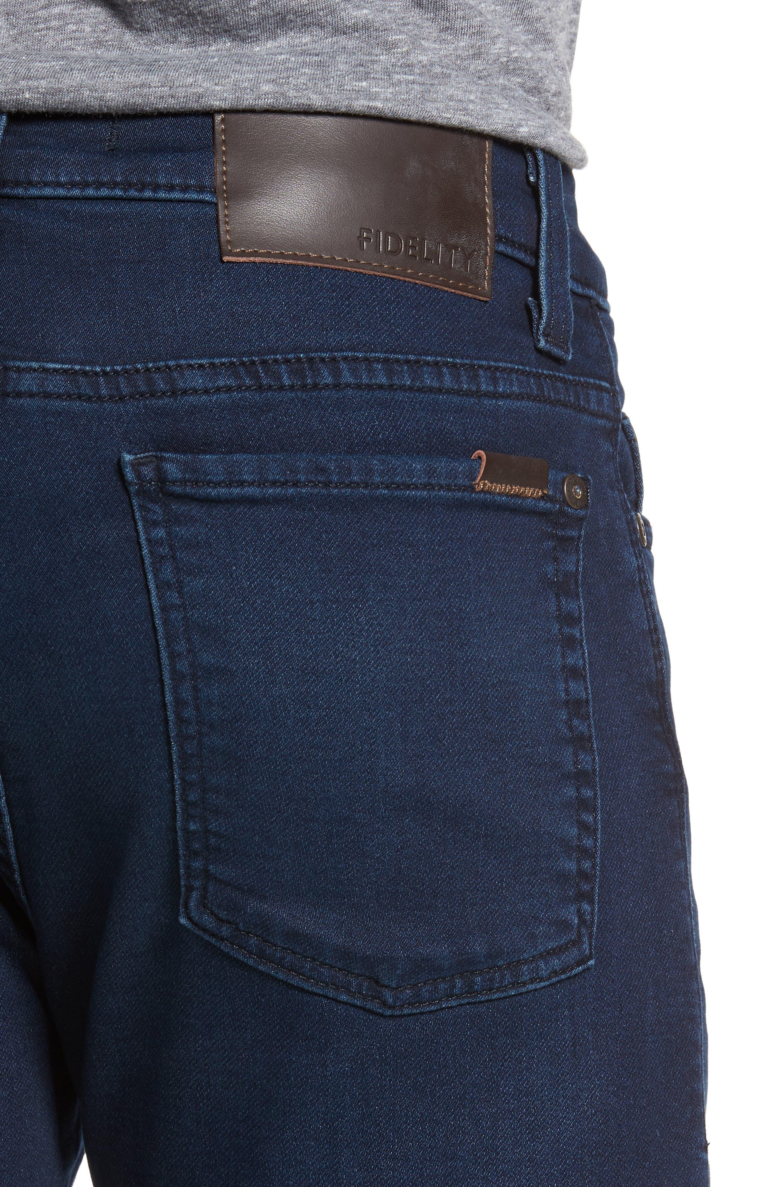 Torino Slim Fit Jeans,                             Alternate thumbnail 4, color,                             Lemmy Blue