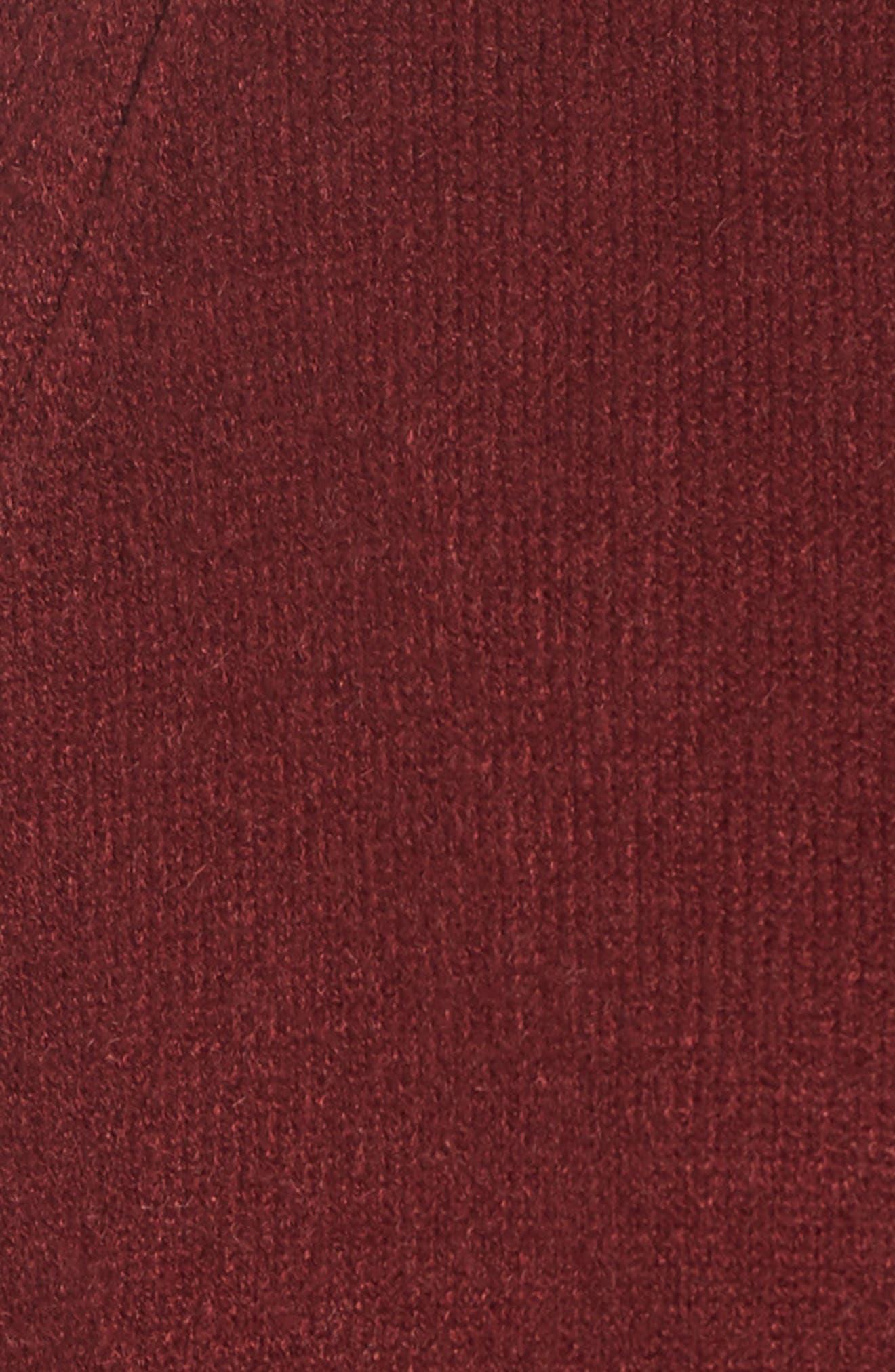 Cozy Open Cardigan,                             Alternate thumbnail 5, color,                             Burgundy