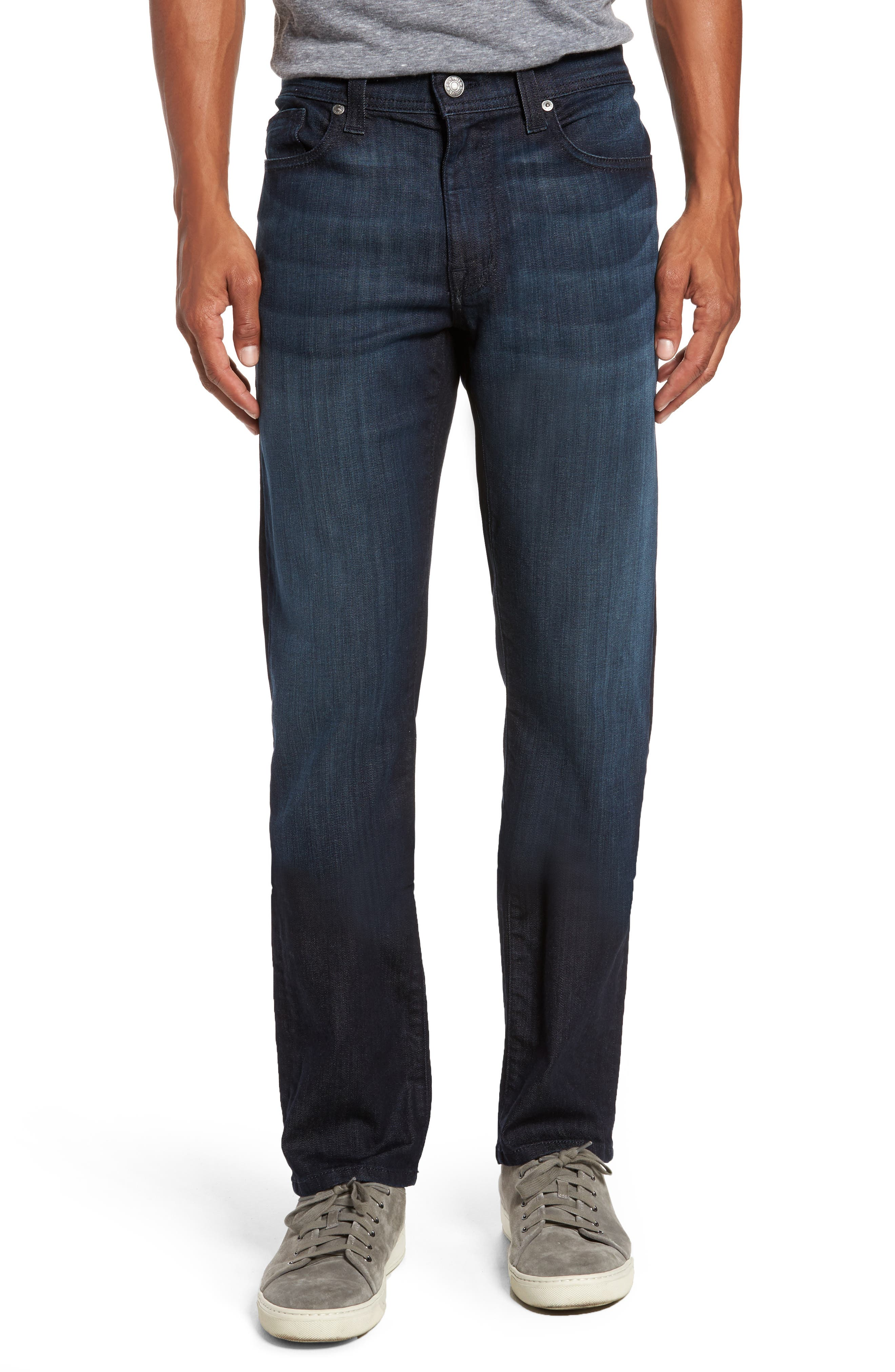 Alternate Image 1 Selected - Fidelity Denim Jimmy Slim Straight Fit Jeans (Brooklyn Blue)