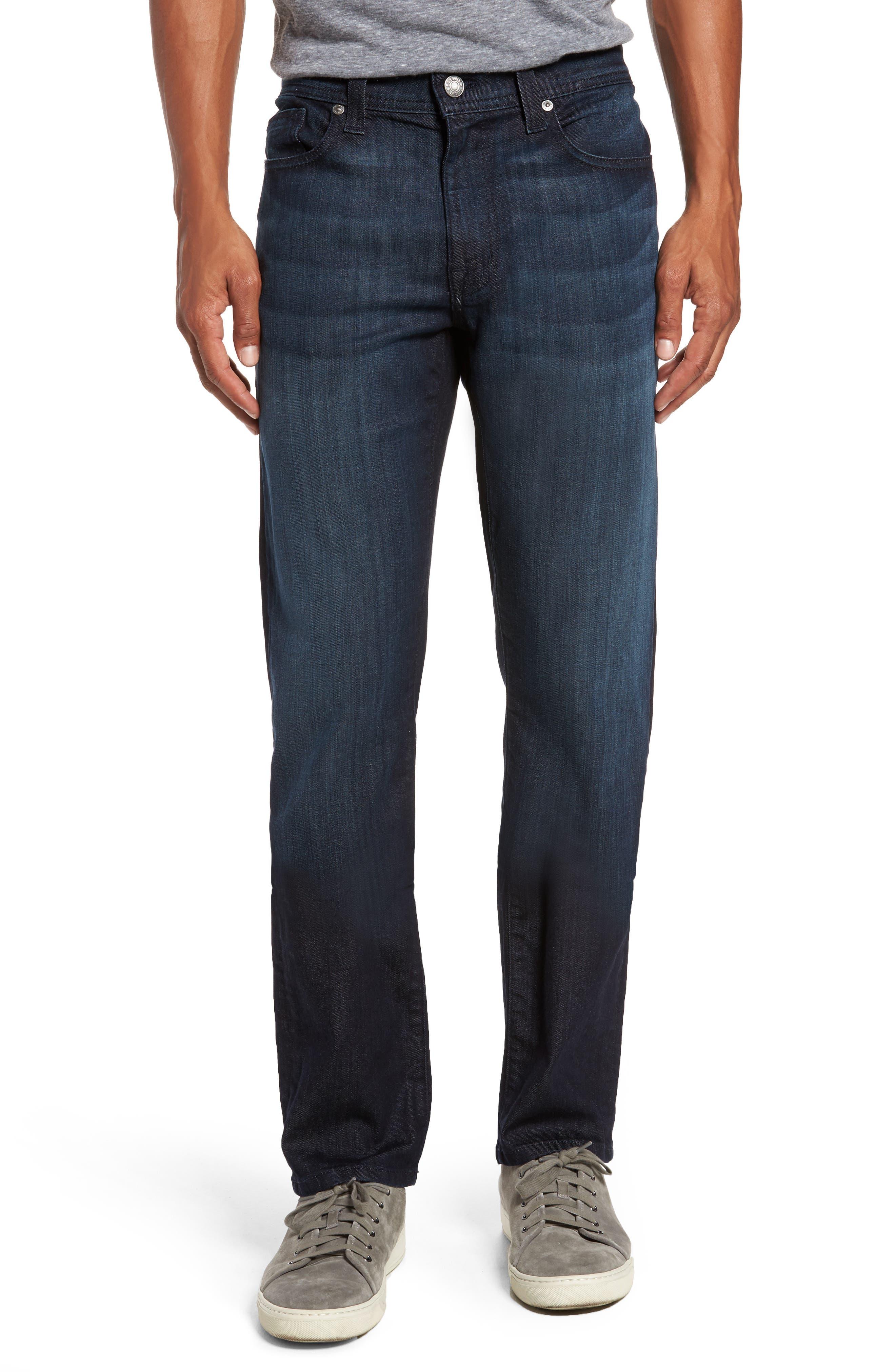 Main Image - Fidelity Denim Jimmy Slim Straight Fit Jeans (Brooklyn Blue)
