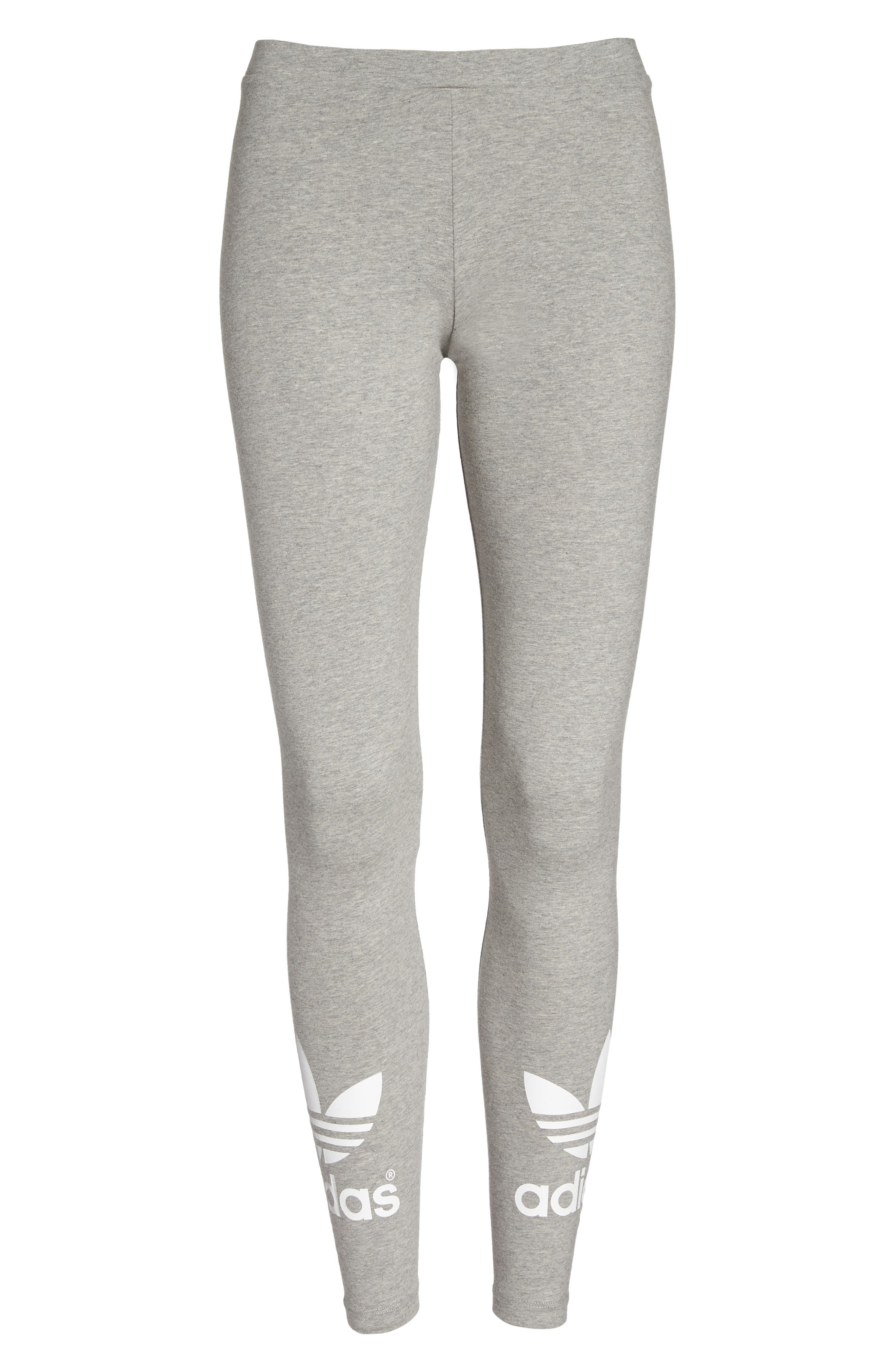Originals Logo Leggings,                         Main,                         color, Medium Grey Heather