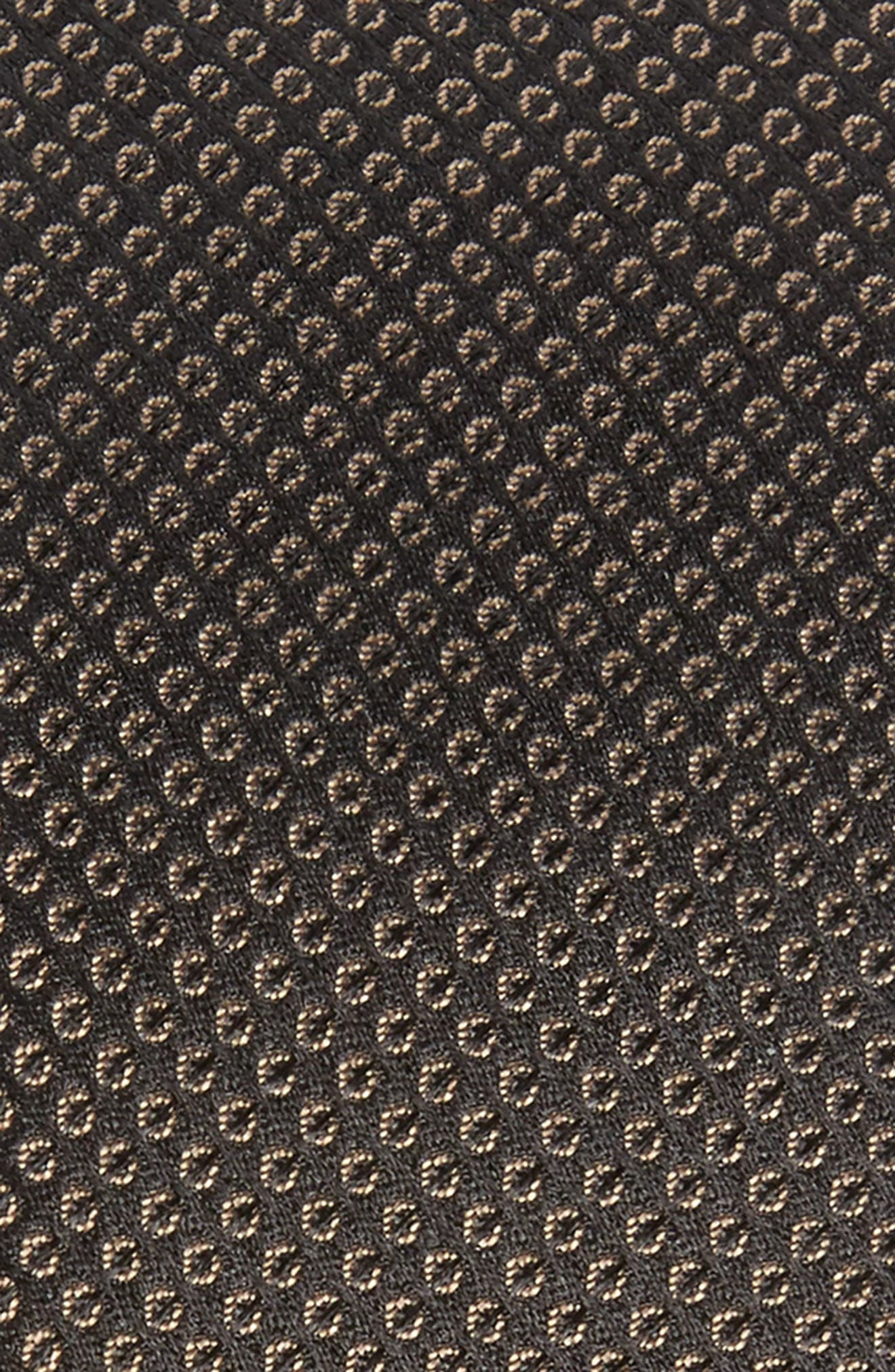 Dot Pattern Silk Skinny Tie,                             Alternate thumbnail 2, color,                             Brown