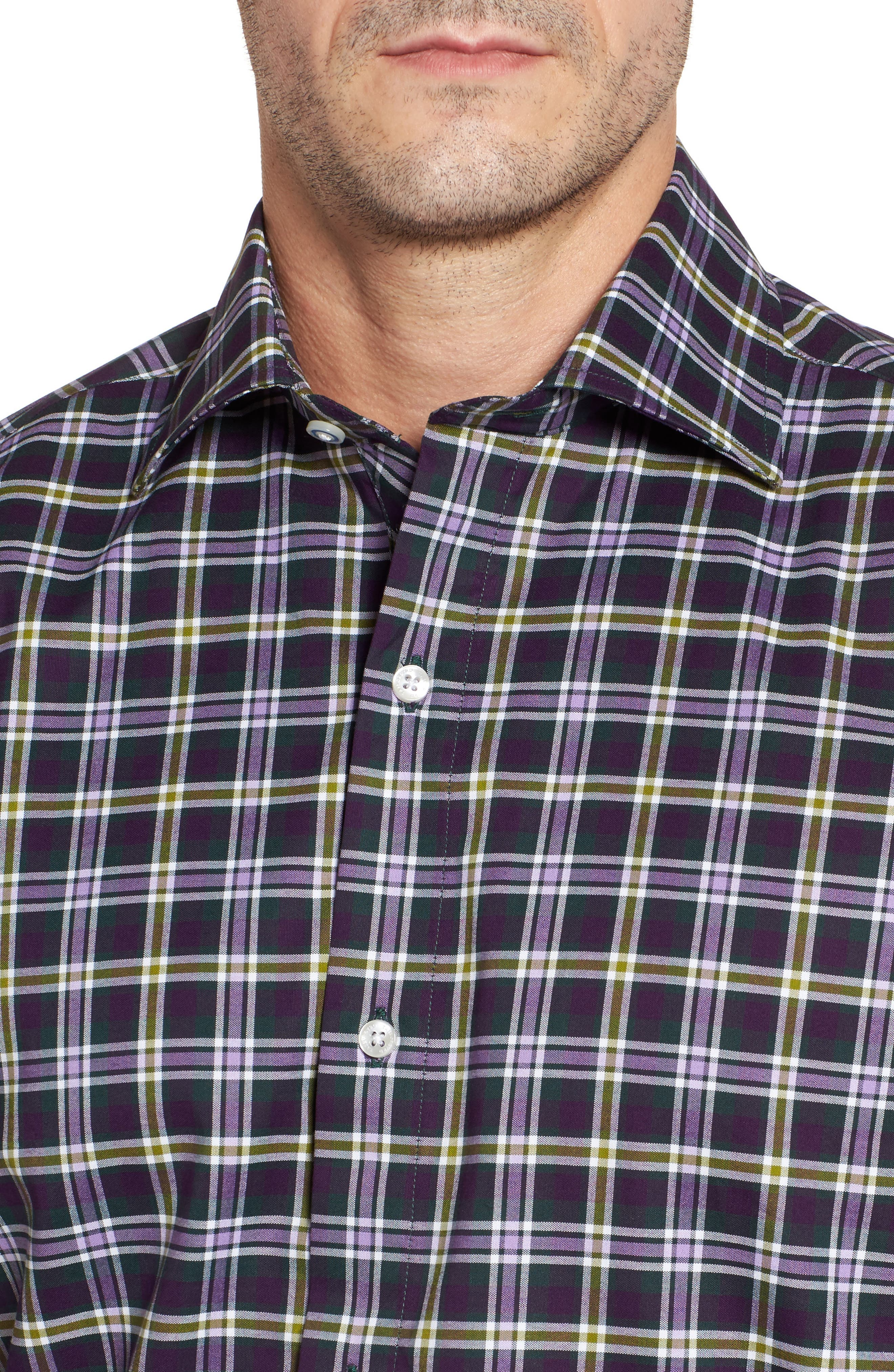 Alternate Image 4  - TailorByrd Calhoun Regular Fit Check Sport Shirt