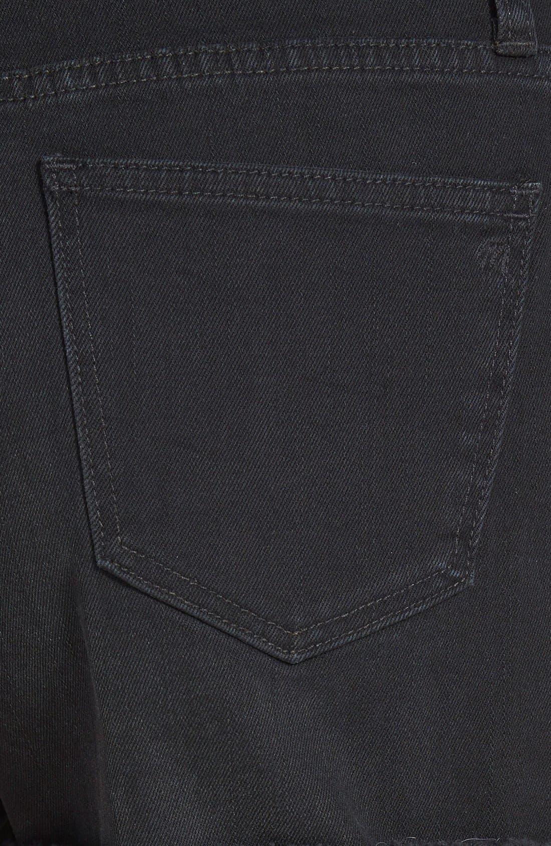 Alternate Image 3  - Madewell High Rise Denim Shorts (Washed Black)