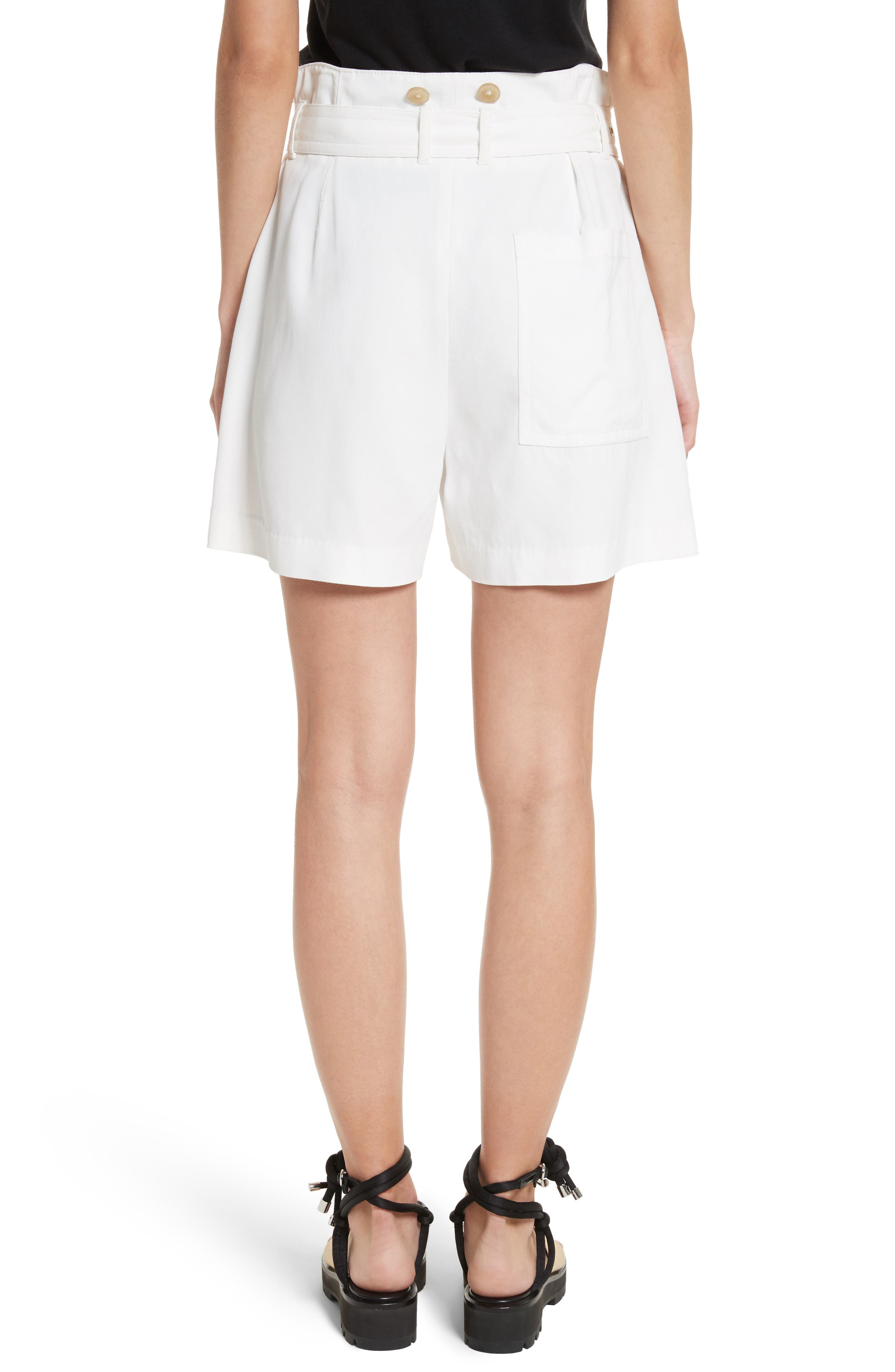 Belted Utility Shorts,                             Alternate thumbnail 2, color,                             Ivory