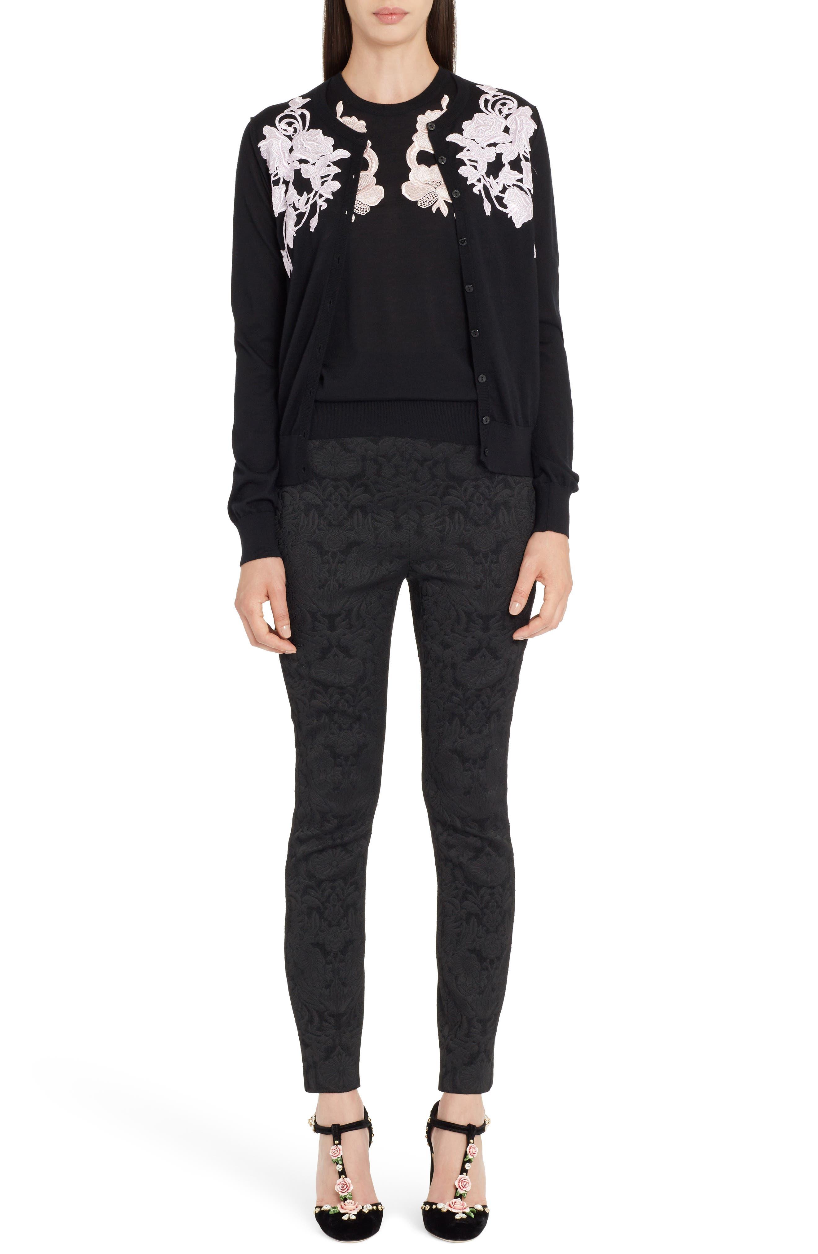 Alternate Image 7  - Dolce&Gabbana Lace Detail Cashmere Shell