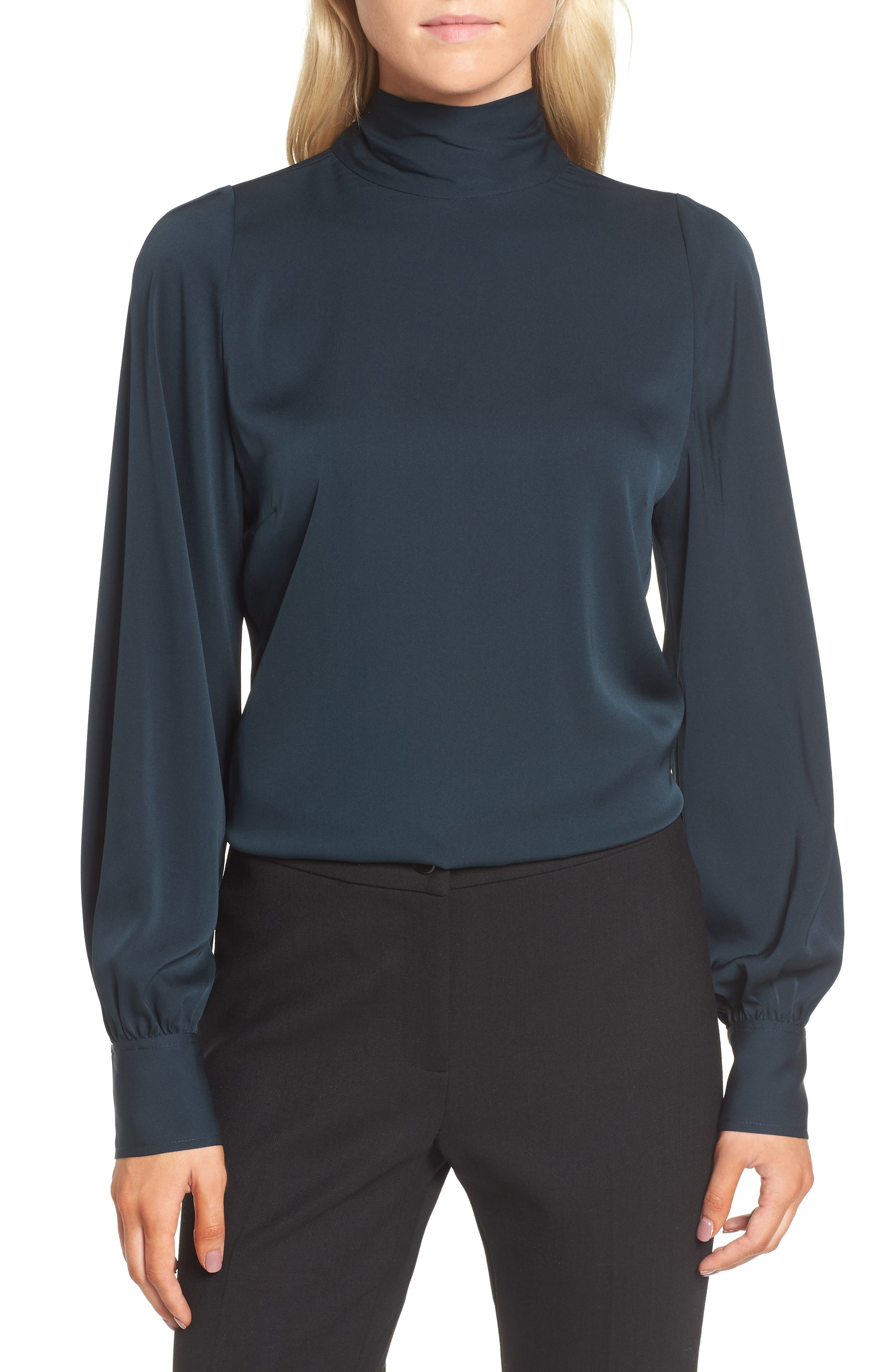 Alternate Image 1 Selected - Lewit Tie Back Stretch Silk Blouse
