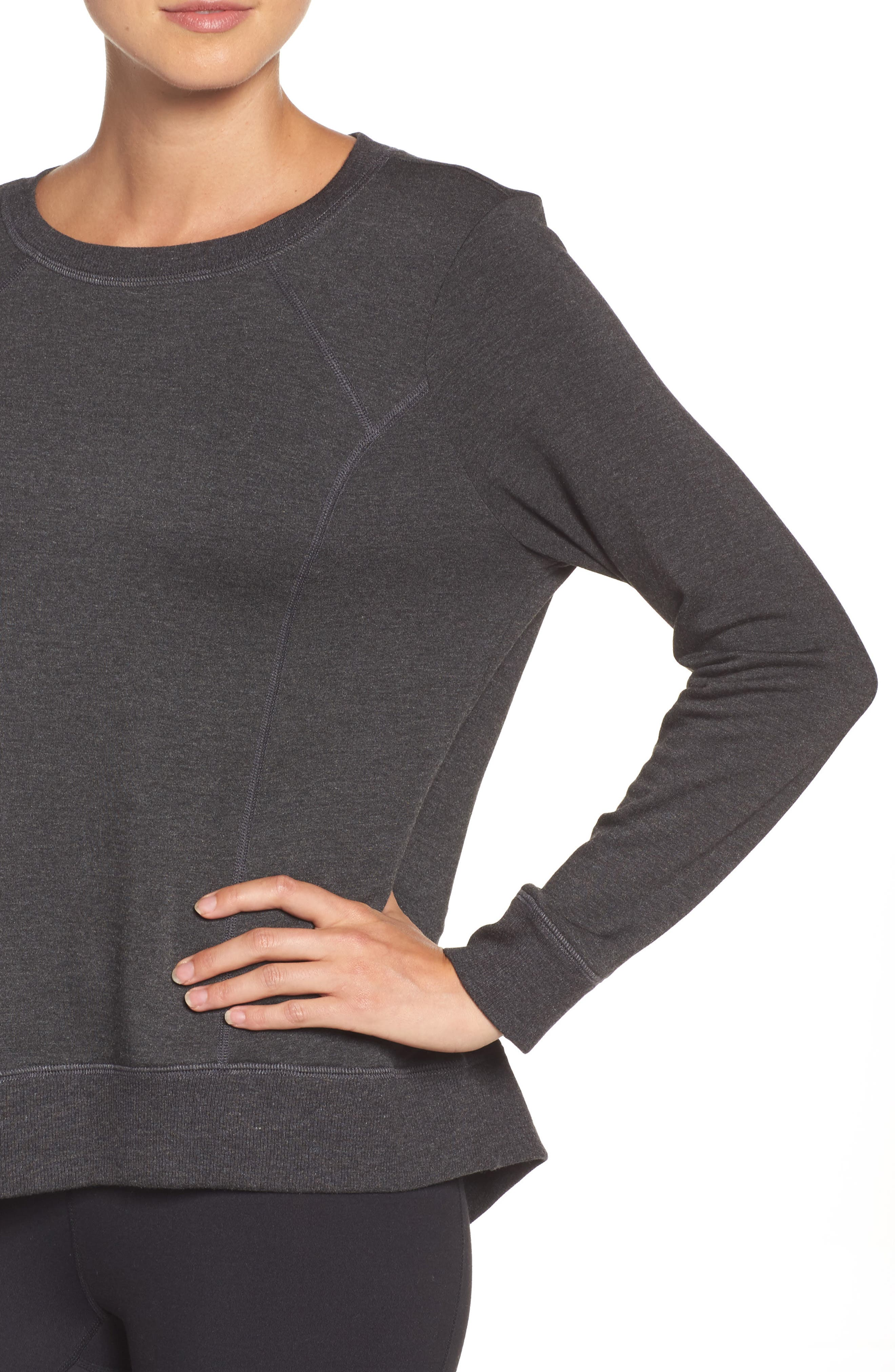 Fleece Pullover,                             Alternate thumbnail 4, color,                             Charcoal Heather Gray