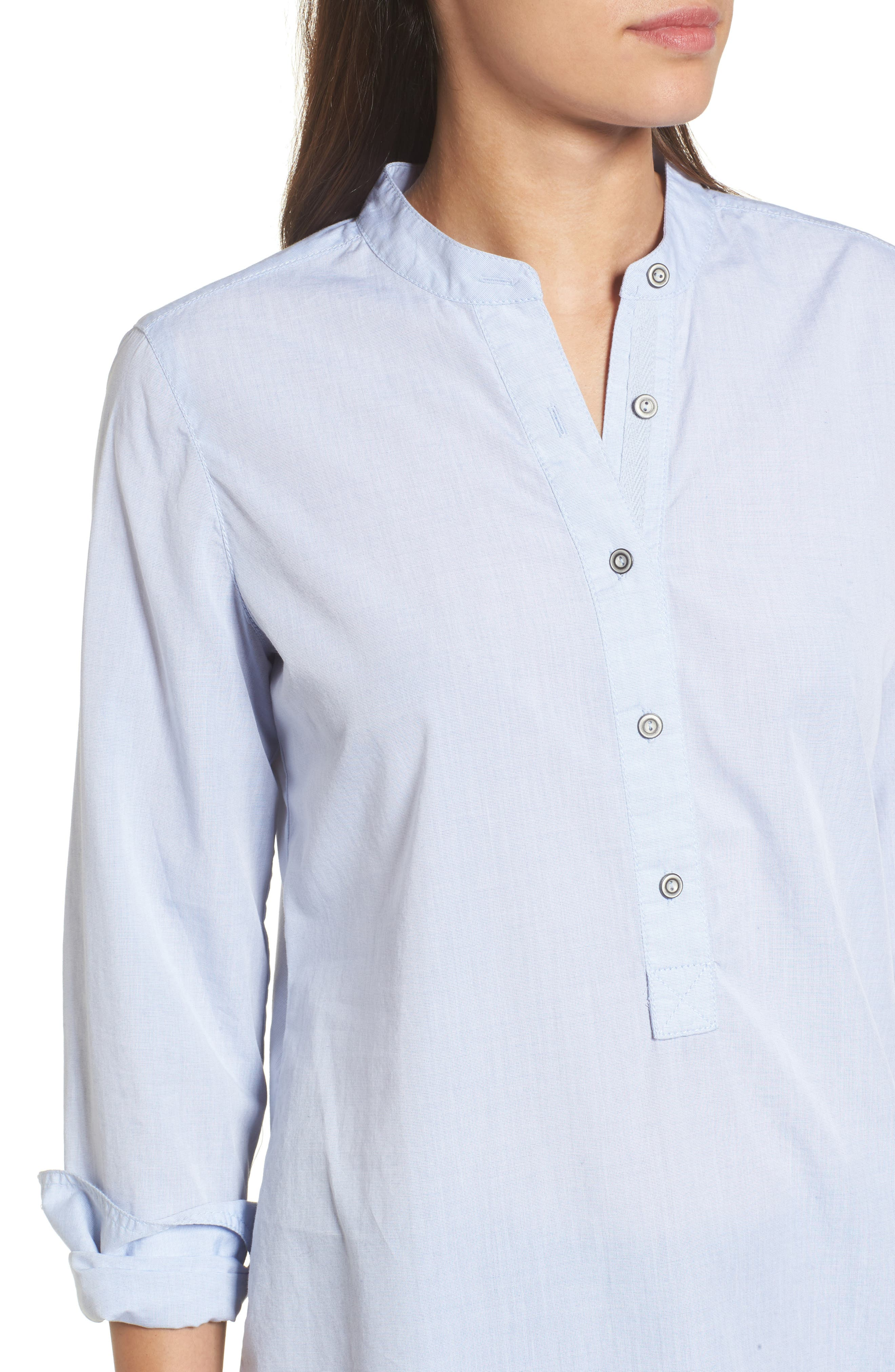 Alternate Image 4  - Caslon® Popover Tunic Shirt (Regular & Petite)