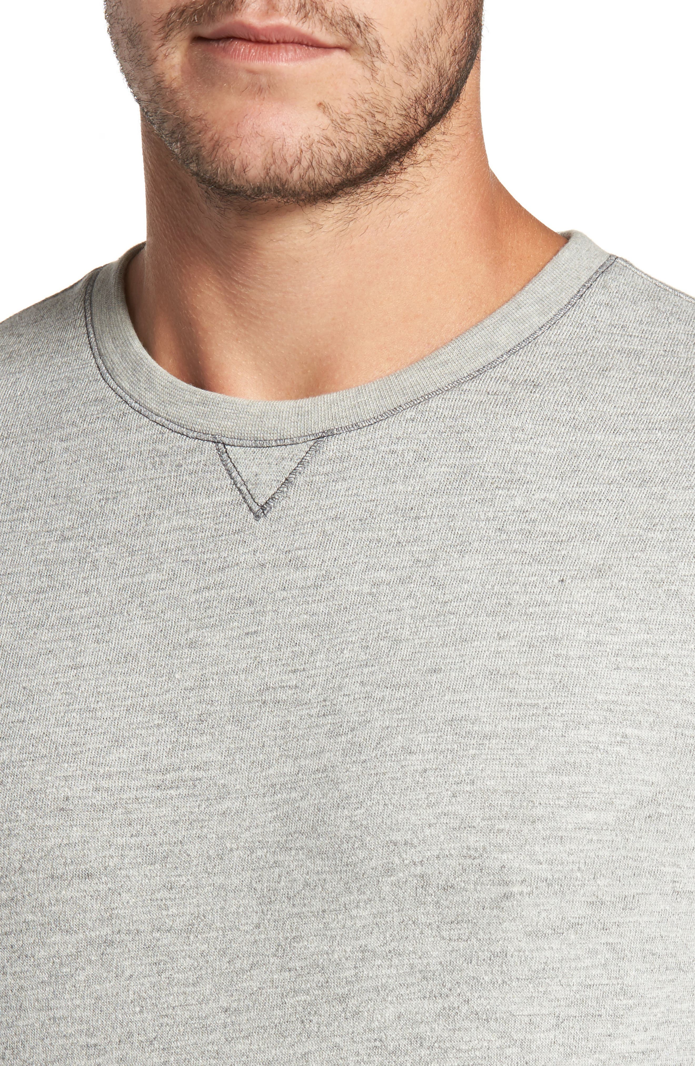 Vienna French Terry T-Shirt,                             Alternate thumbnail 4, color,                             Light Grey