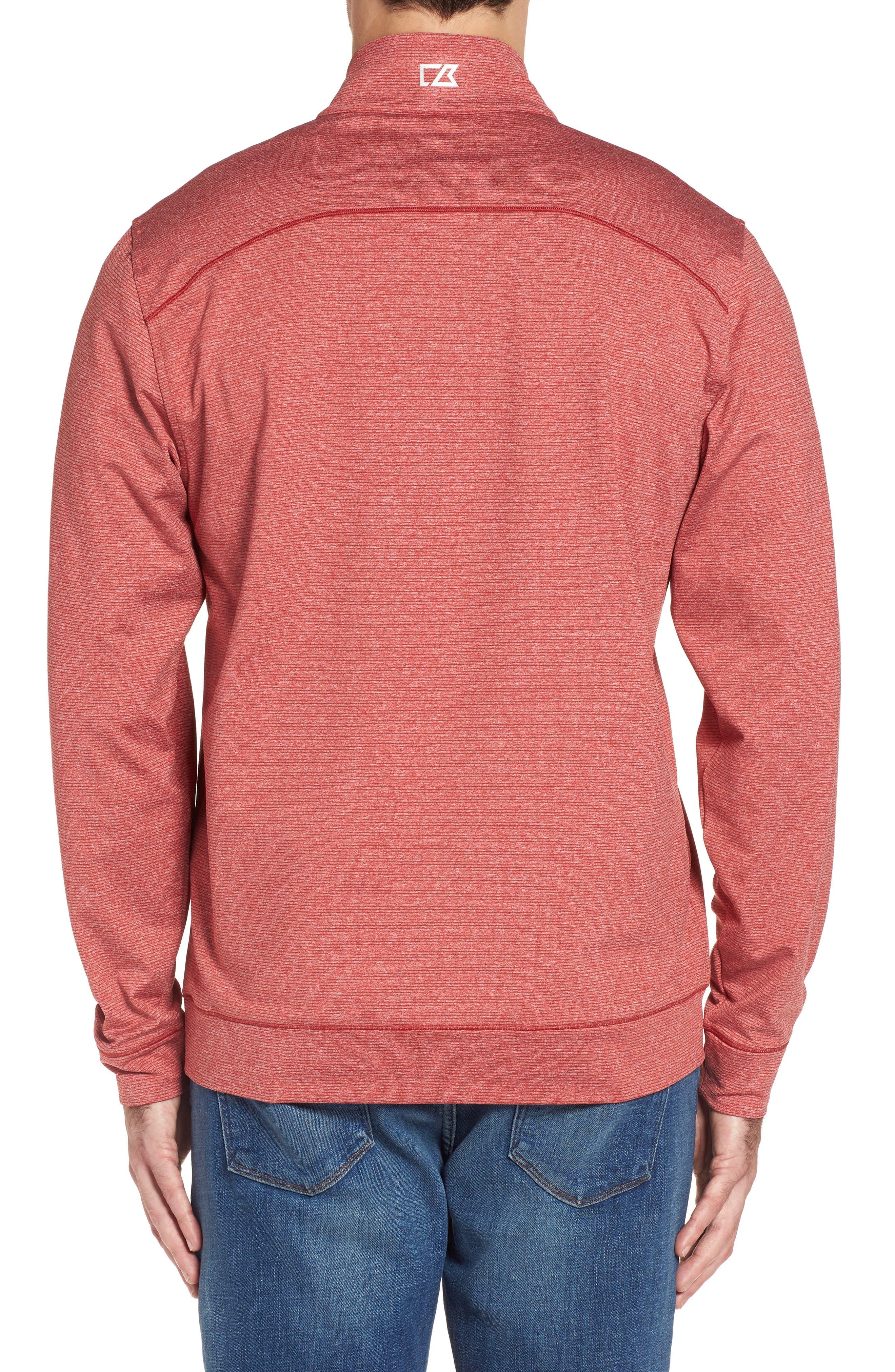 Shoreline - Tampa Bay Buccaneers Half Zip Pullover,                             Alternate thumbnail 2, color,                             Cardinal Red Heather