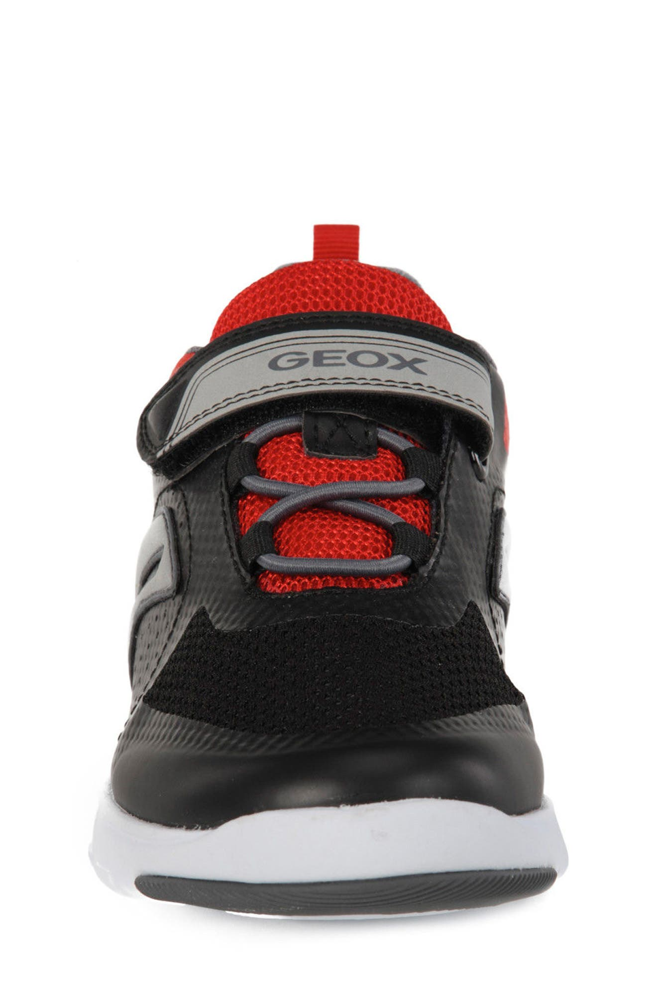 Xunday Low Top Sneaker,                             Alternate thumbnail 4, color,                             Black/ Red
