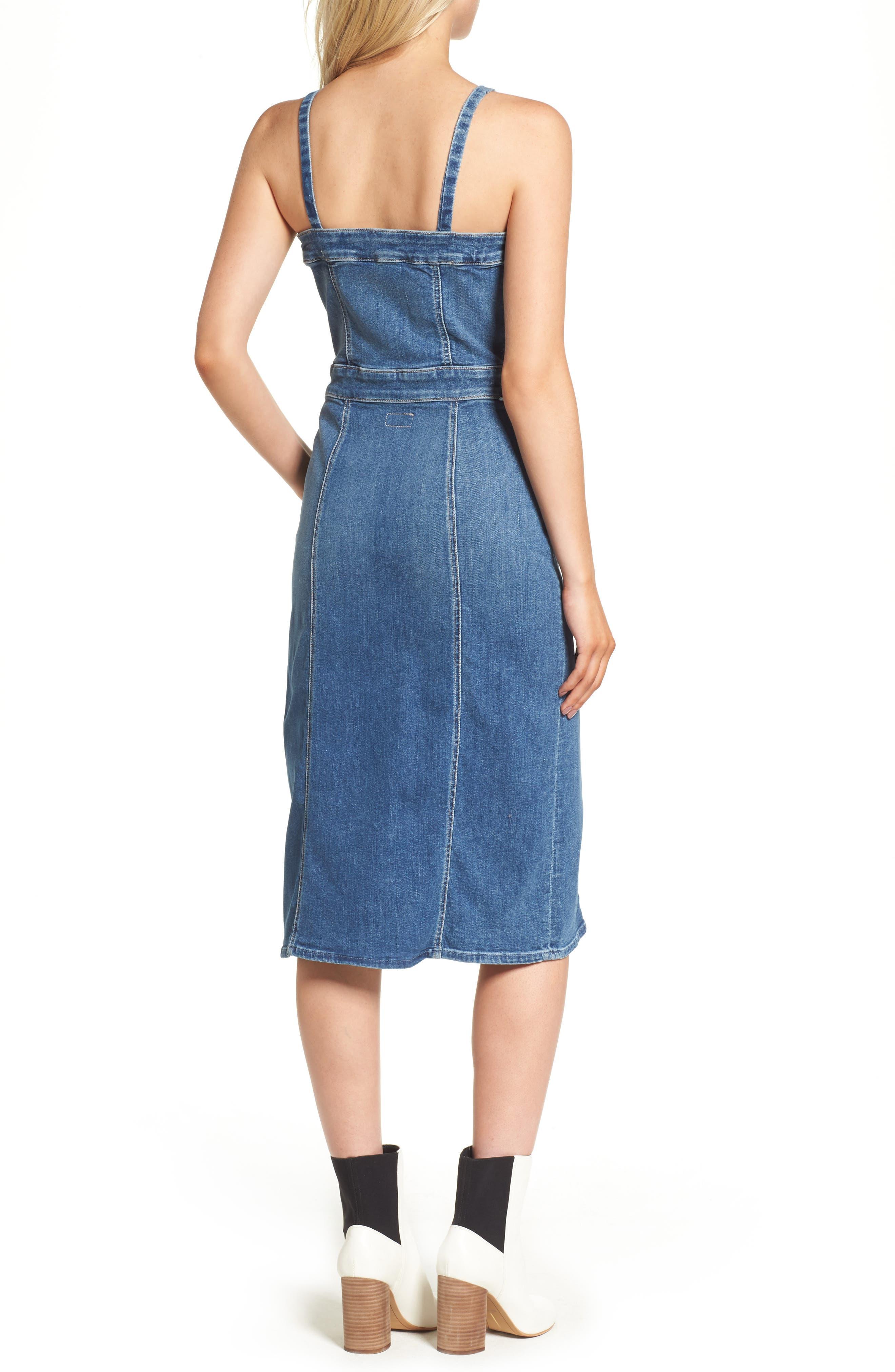 Alternate Image 2  - MOTHER To the Point Denim Midi Dress