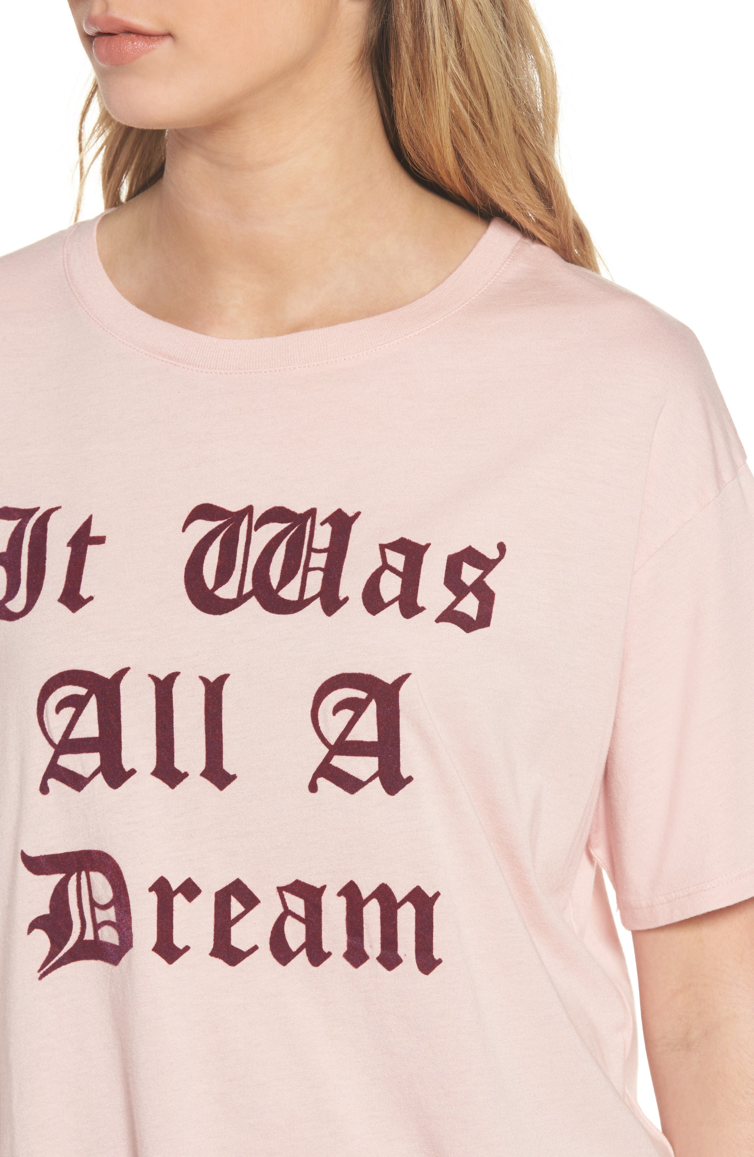 It Was All A Dream Graphic Tee,                             Alternate thumbnail 4, color,                             Powder Pink