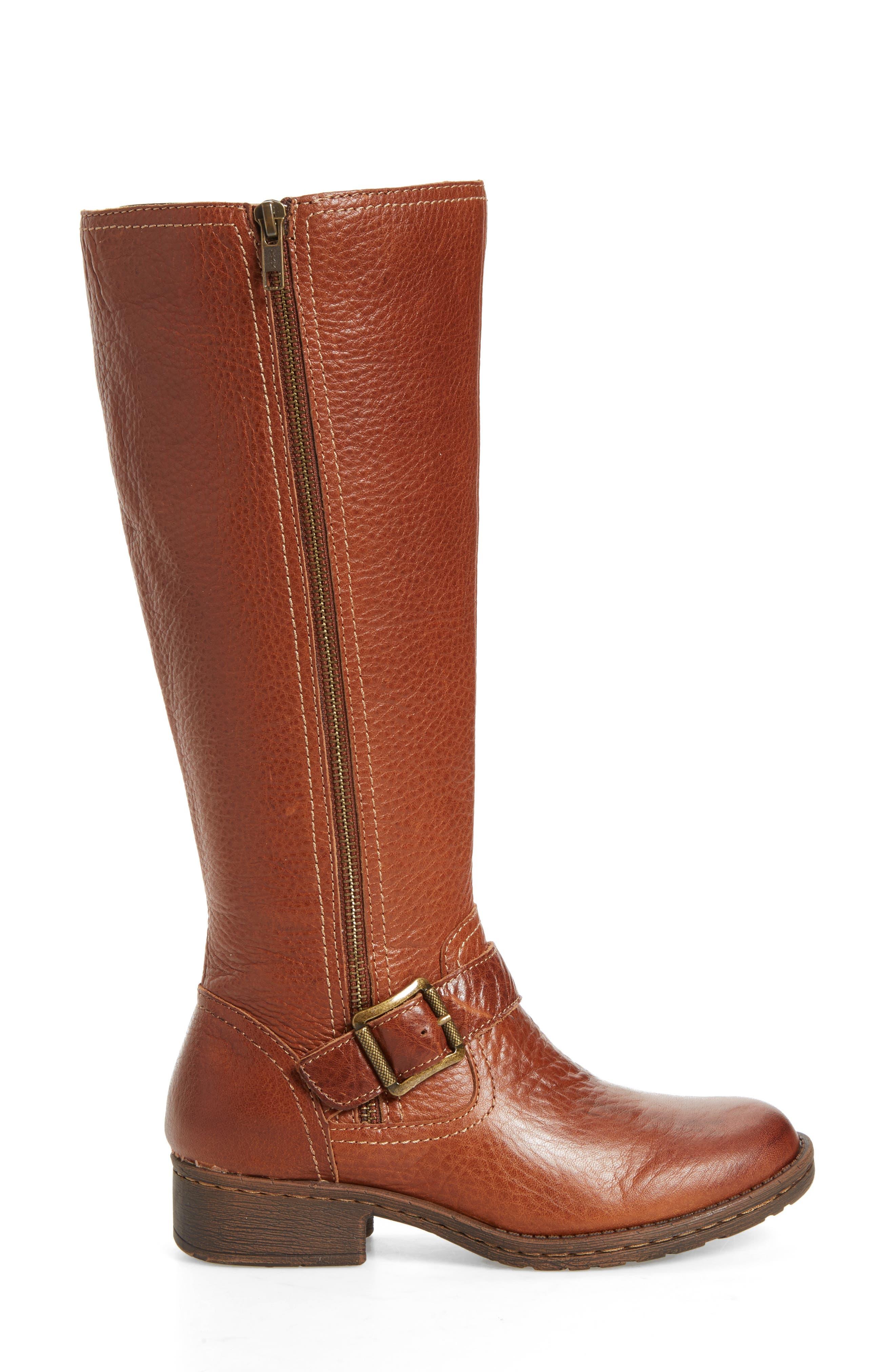 Sedalia Tall Boot,                             Alternate thumbnail 3, color,                             Whiskey Leather