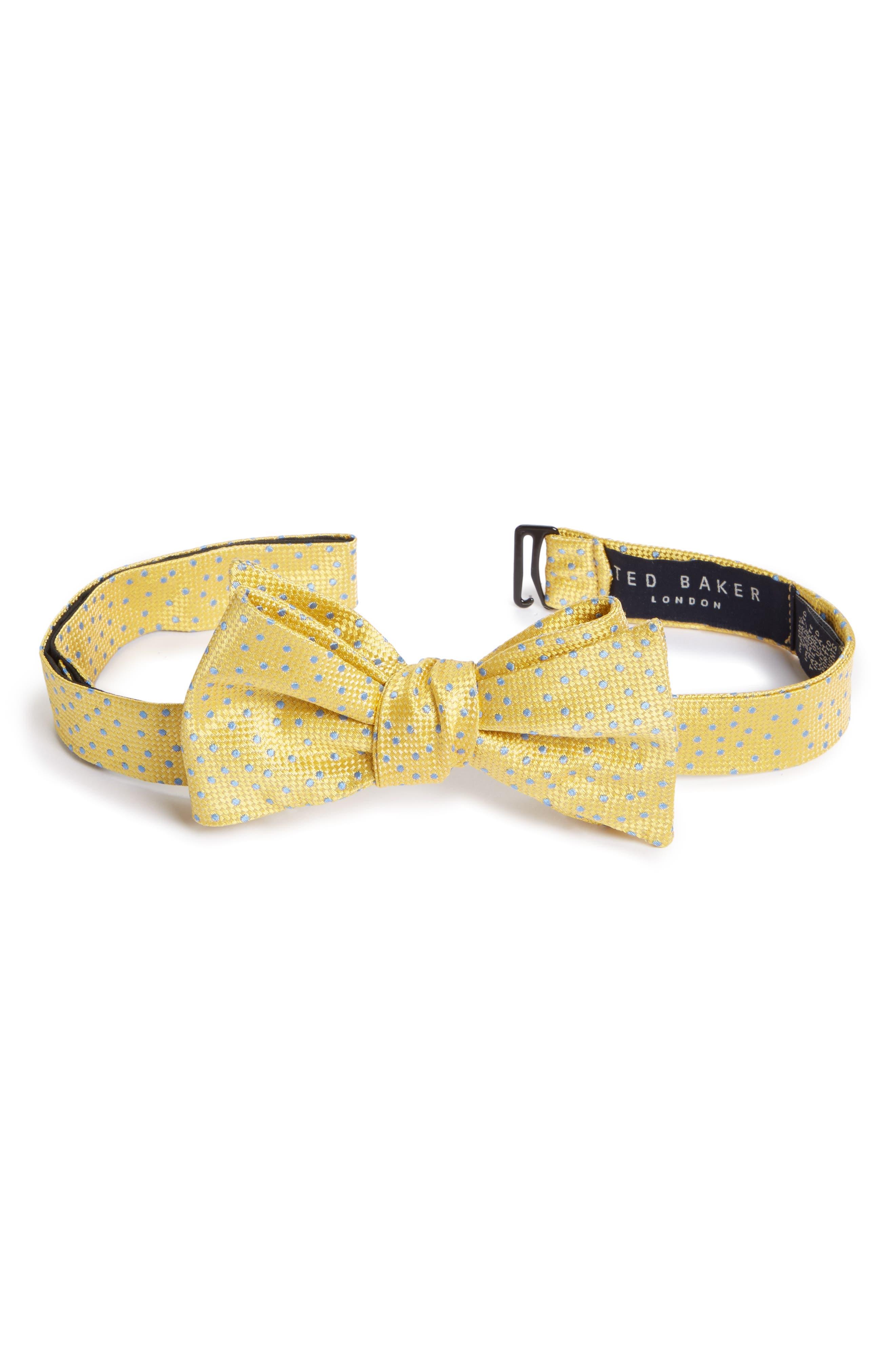 Ted Baker London Jacquard Micro Dot Silk Bow Tie