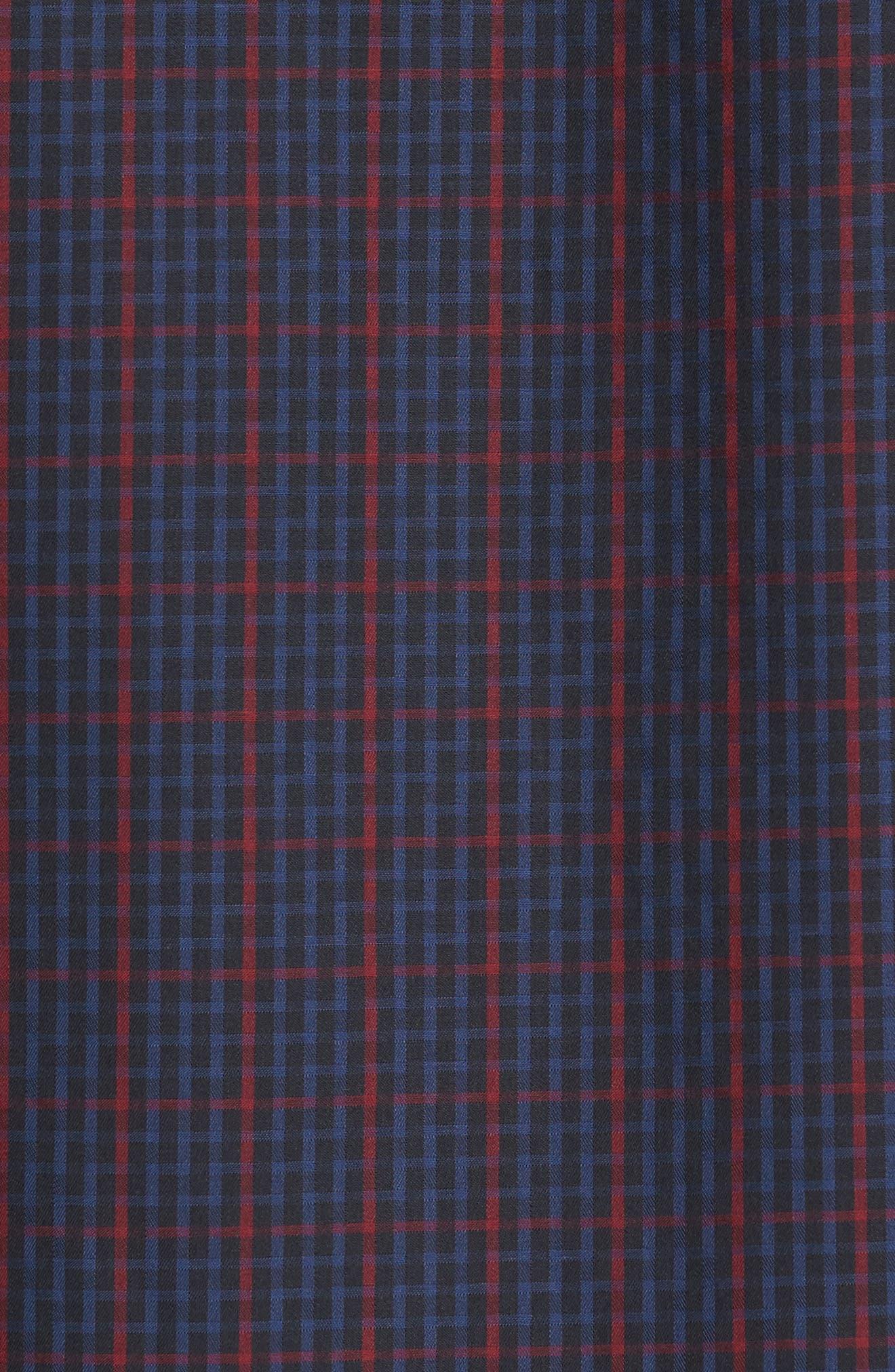 Classic Fit Windowpane Check Sport Shirt,                             Alternate thumbnail 5, color,                             Midnight
