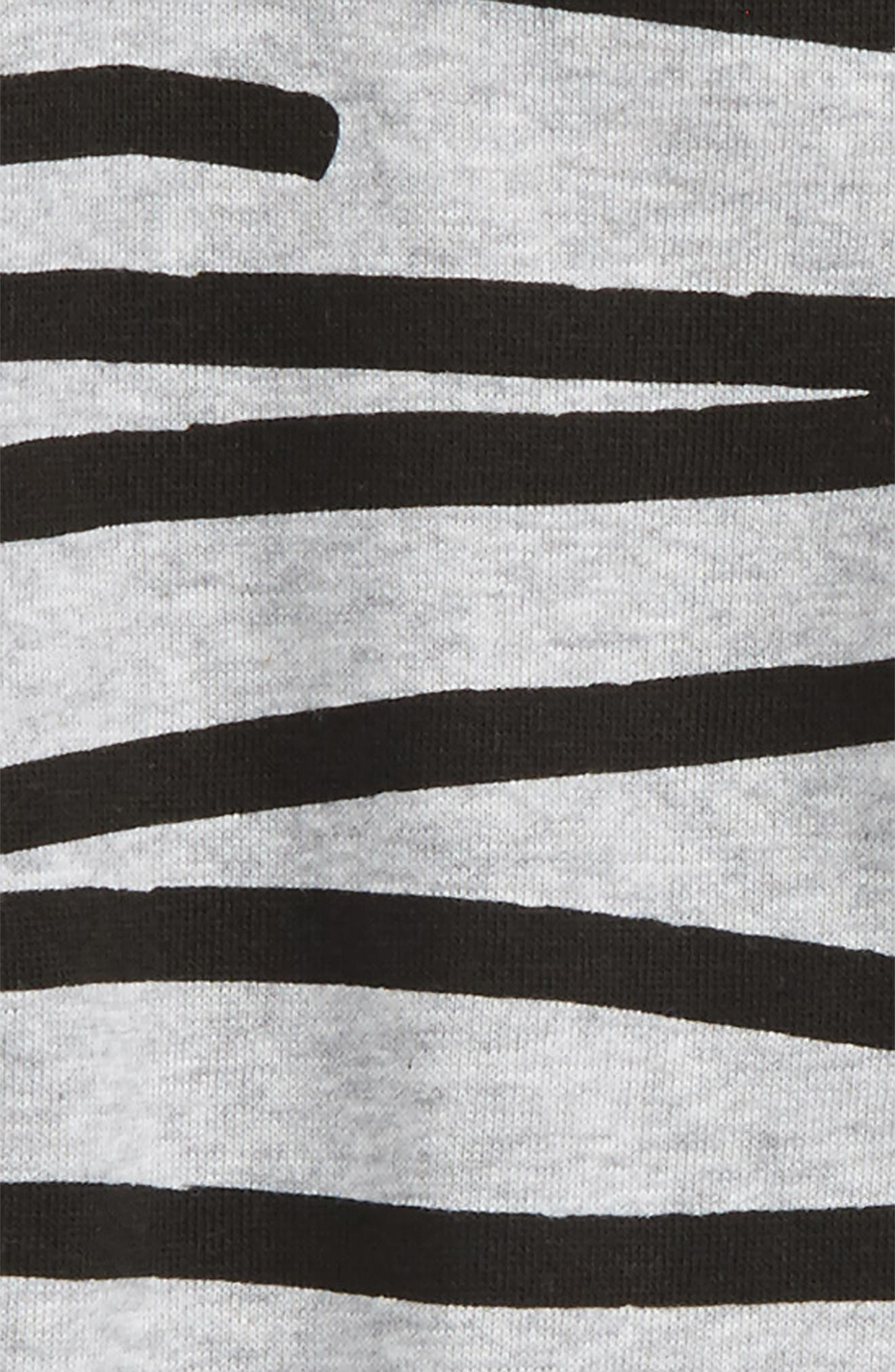 Stripe Romper,                             Alternate thumbnail 2, color,                             Grey Marle/ Black