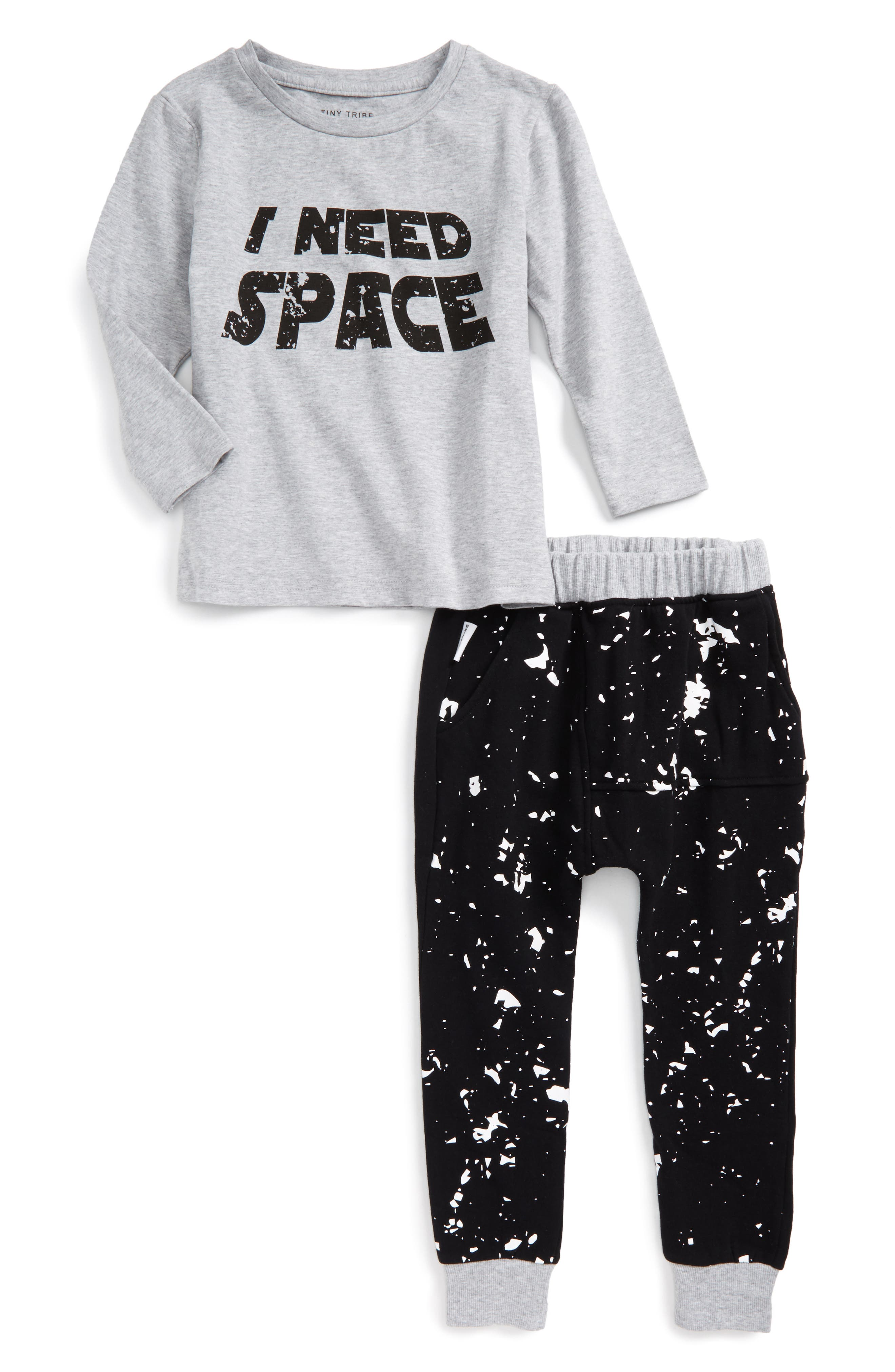 Tiny Tribe I Need Space Tee & Sweatpants (Little Boys)