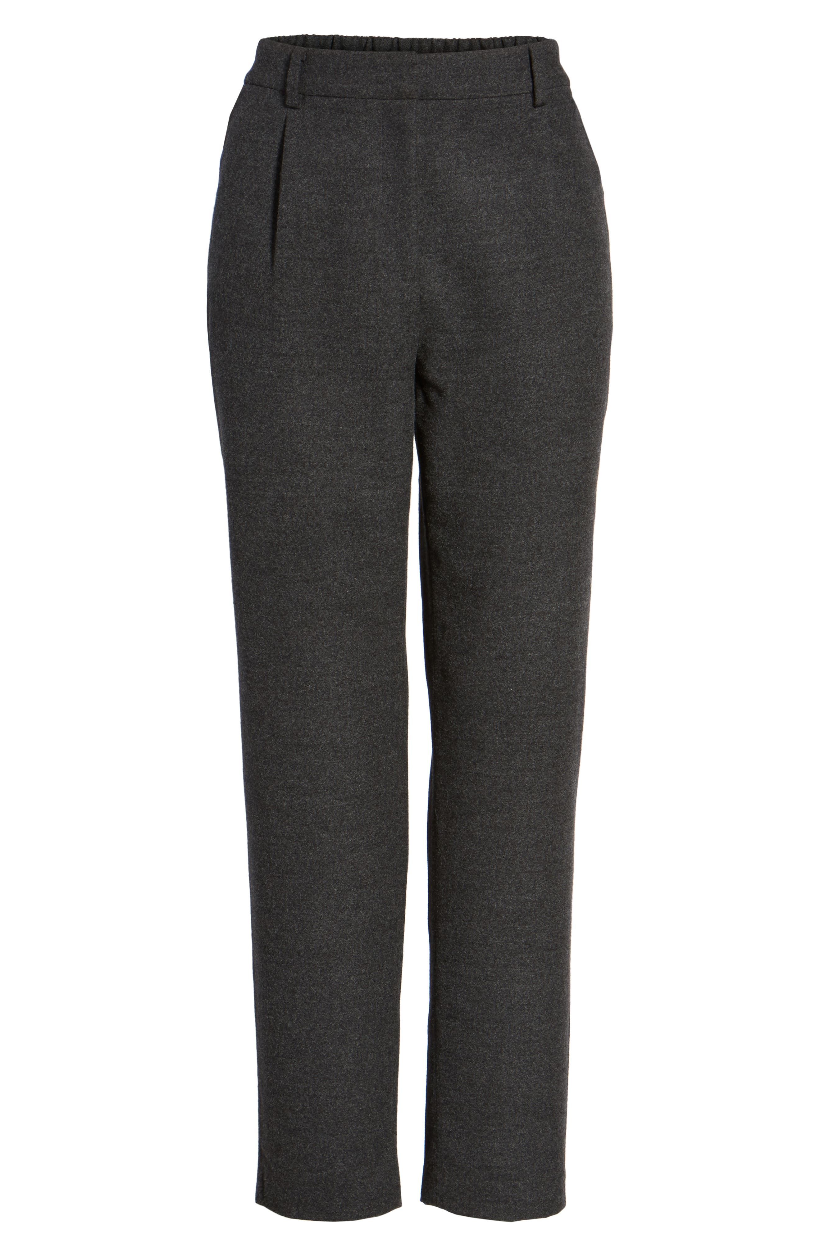 Relaxed Ankle Pants,                             Alternate thumbnail 5, color,                             Heather Grey