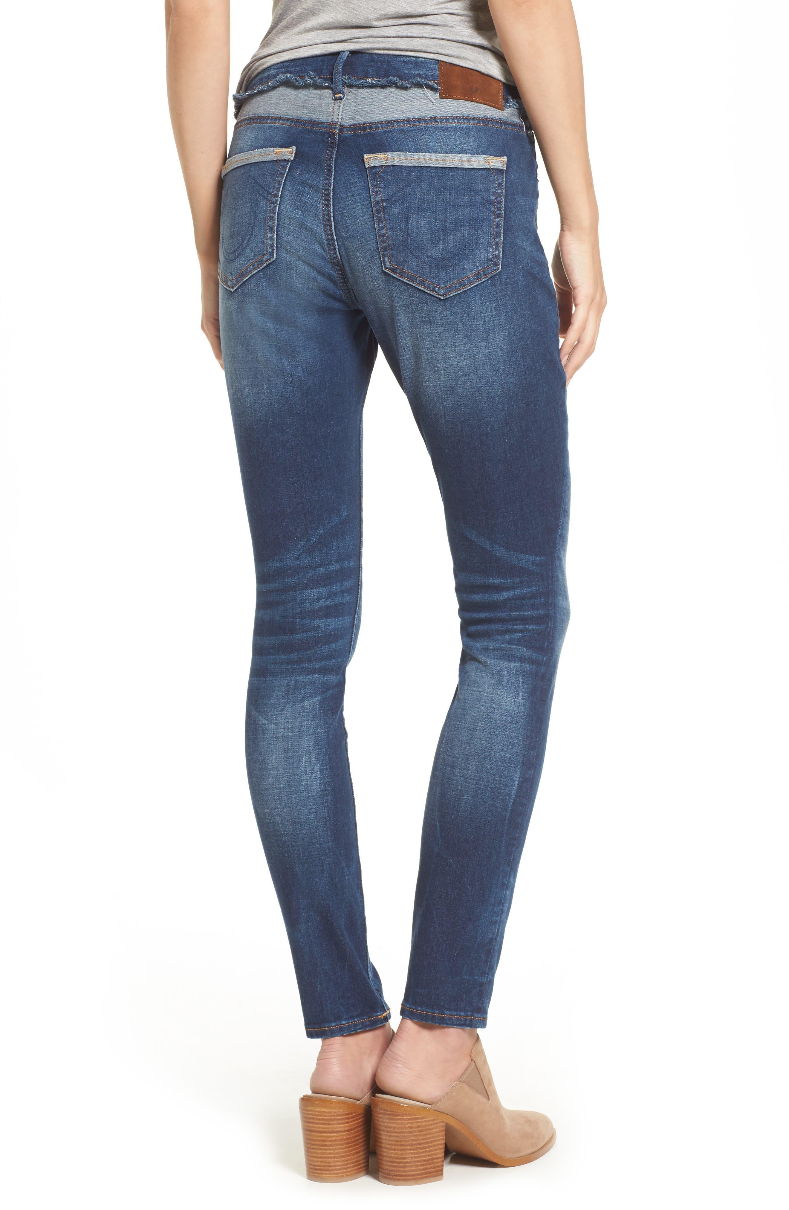 Alternate Image 2  - True Religion Brand Jeans Jennie Deconstructed Skinny Jeans (Broken Record)