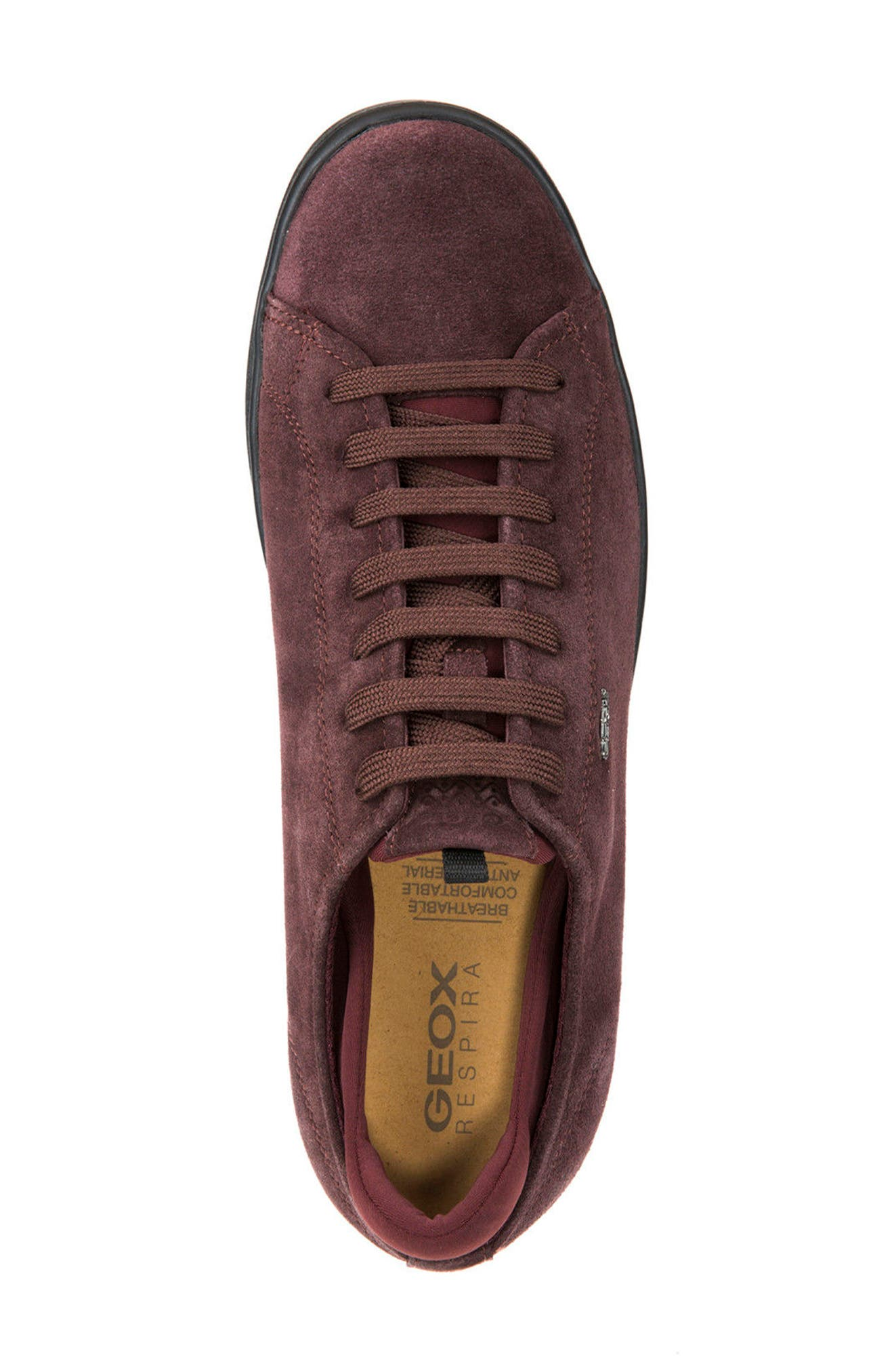 Warrens 8 Low-Top Sneaker,                             Alternate thumbnail 5, color,                             Bordeaux