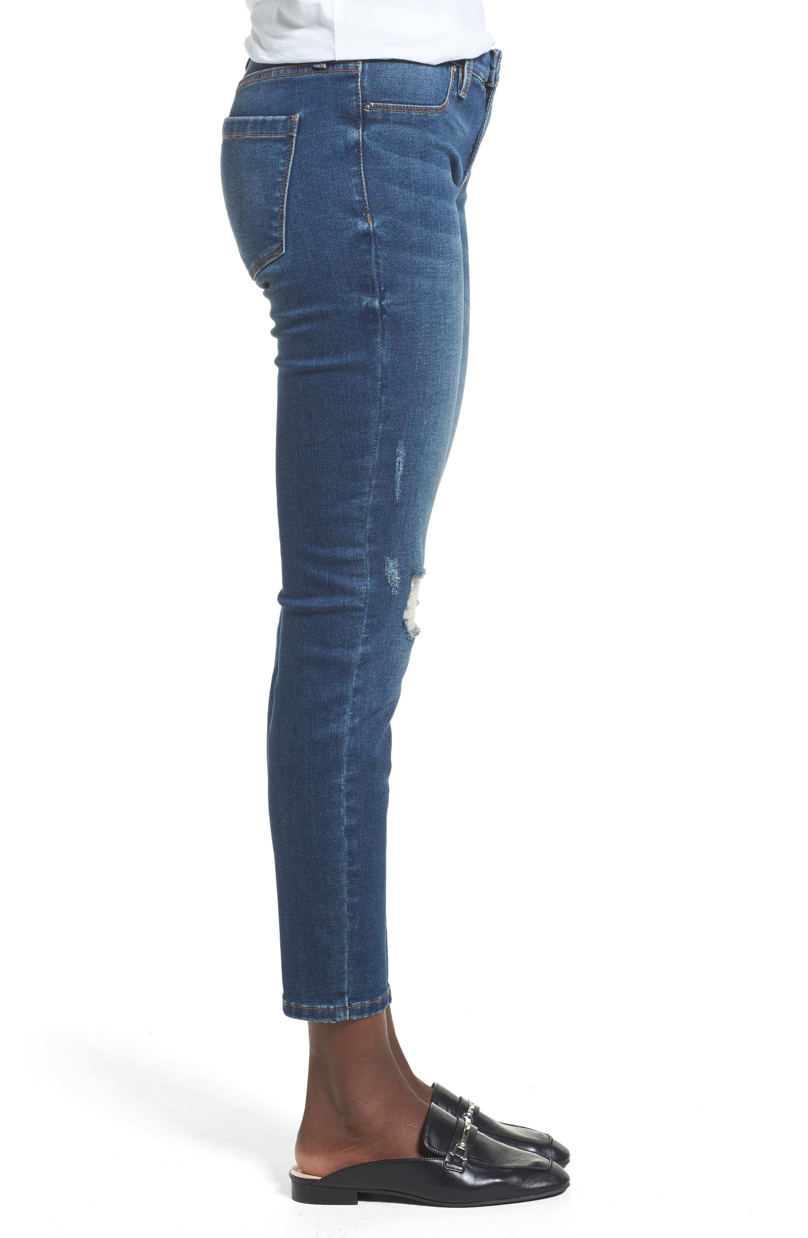 Alternate Image 3  - BLANKNYC Great Escape Skinny Jeans