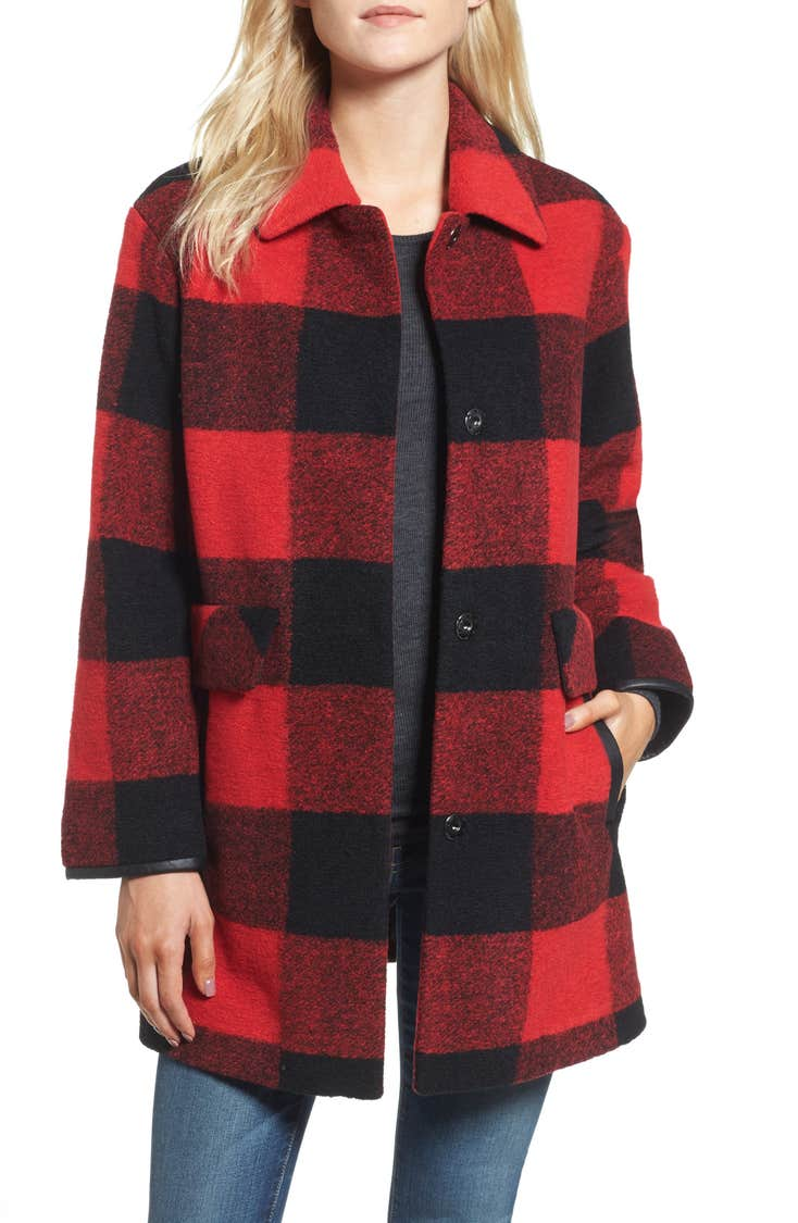 Buffalo check barn coat