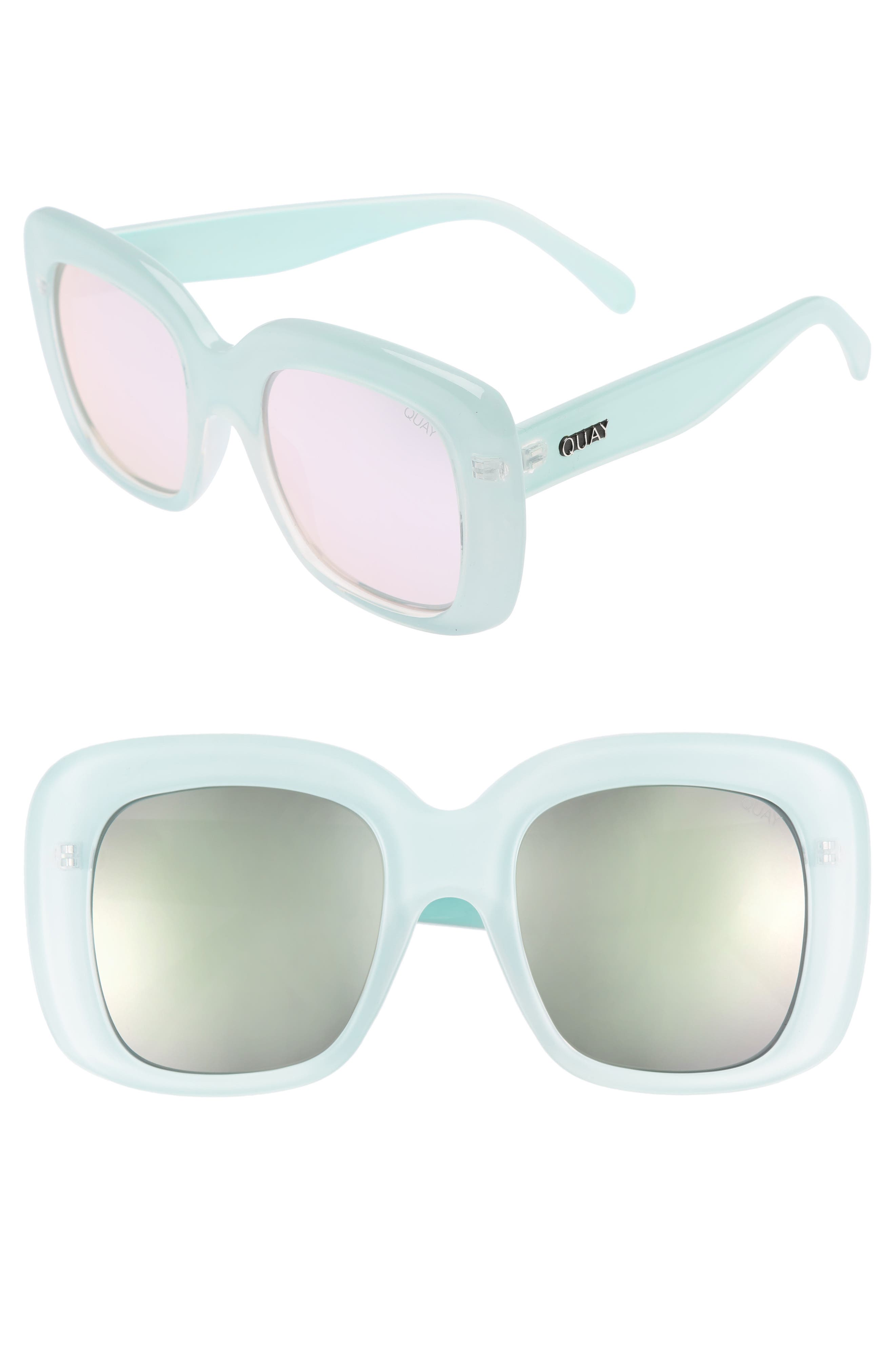 Quay Australia Day After Day 53mm Square Sunglasses