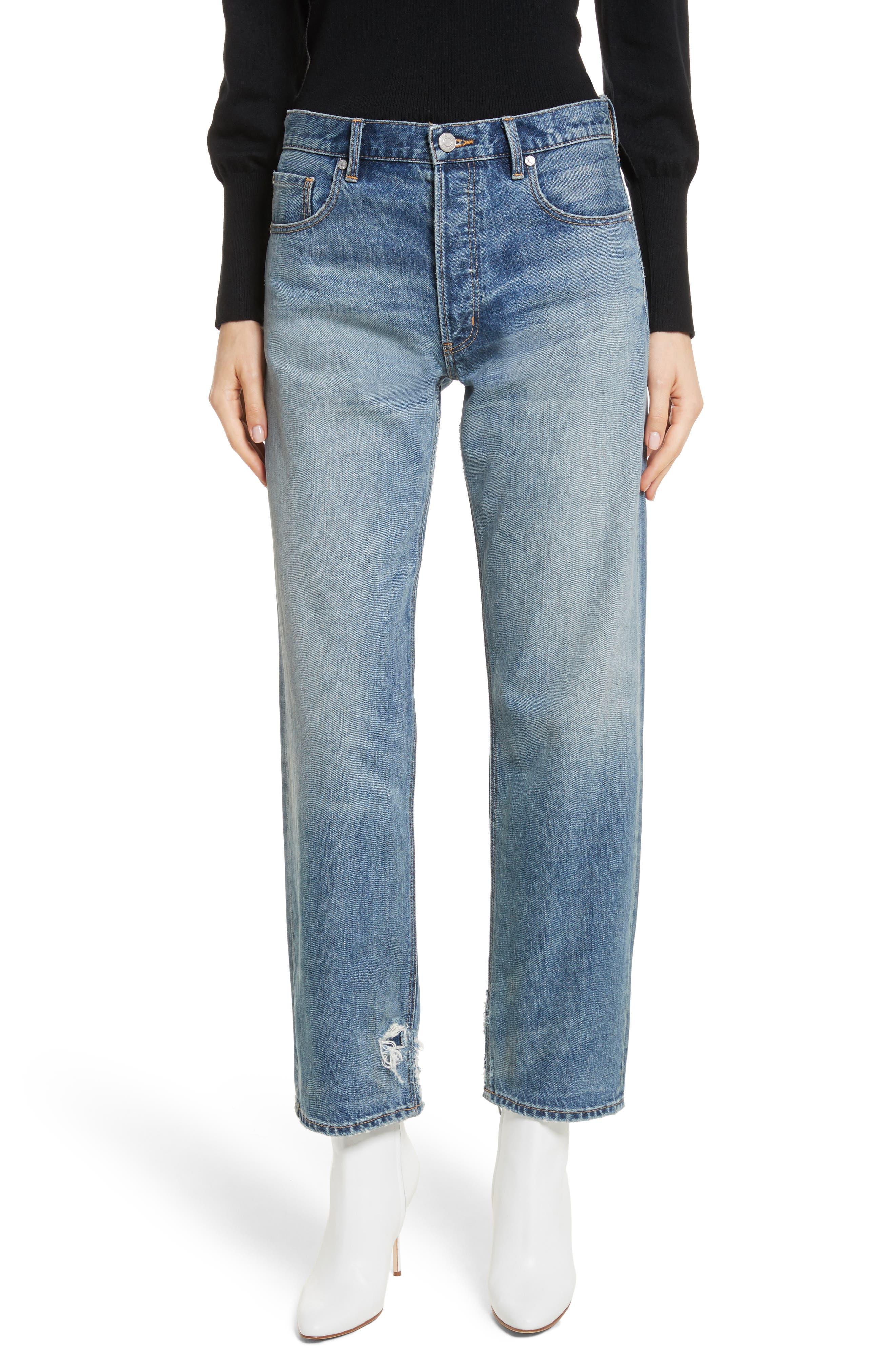 La Vie Rebecca Taylor Sylvie High Waist Straight Leg Ankle Jeans
