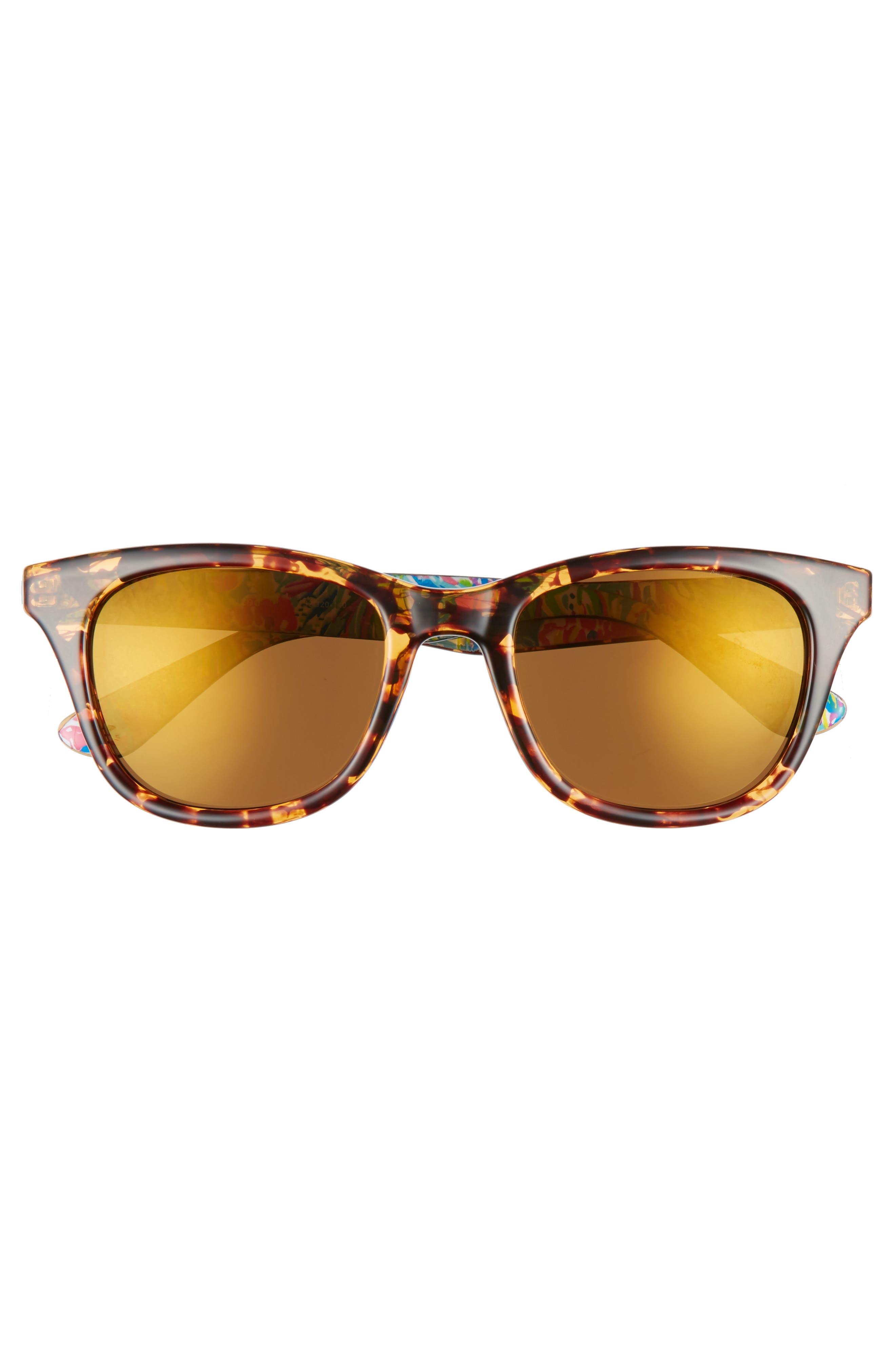 Alternate Image 3  - Lilly Pulitzer® Maddie 52mm Polarized Mirrored Sunglasses