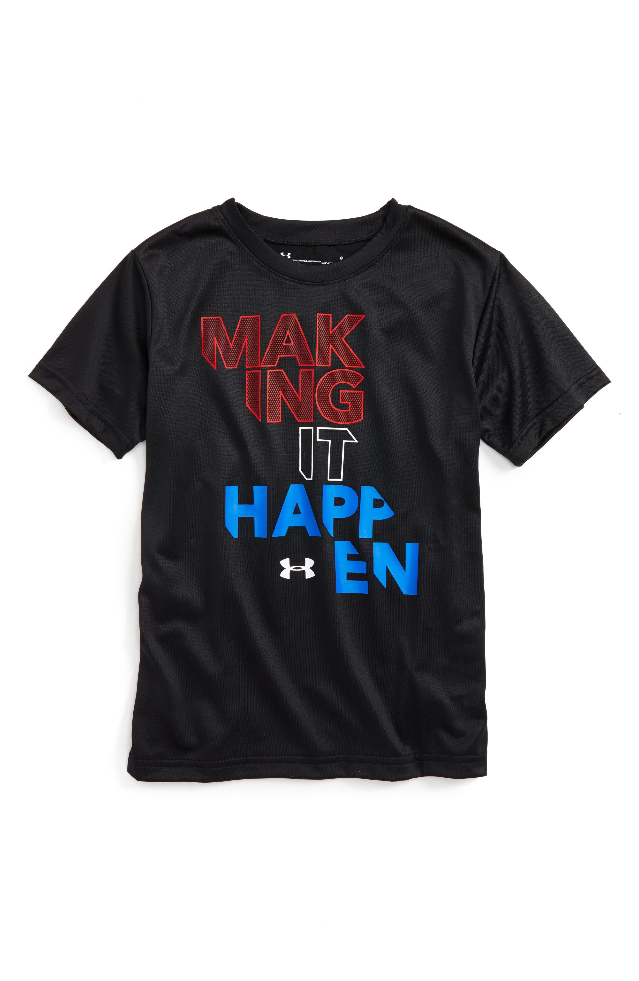 Making it Happen HeatGear<sup>®</sup> T-Shirt,                         Main,                         color, Black