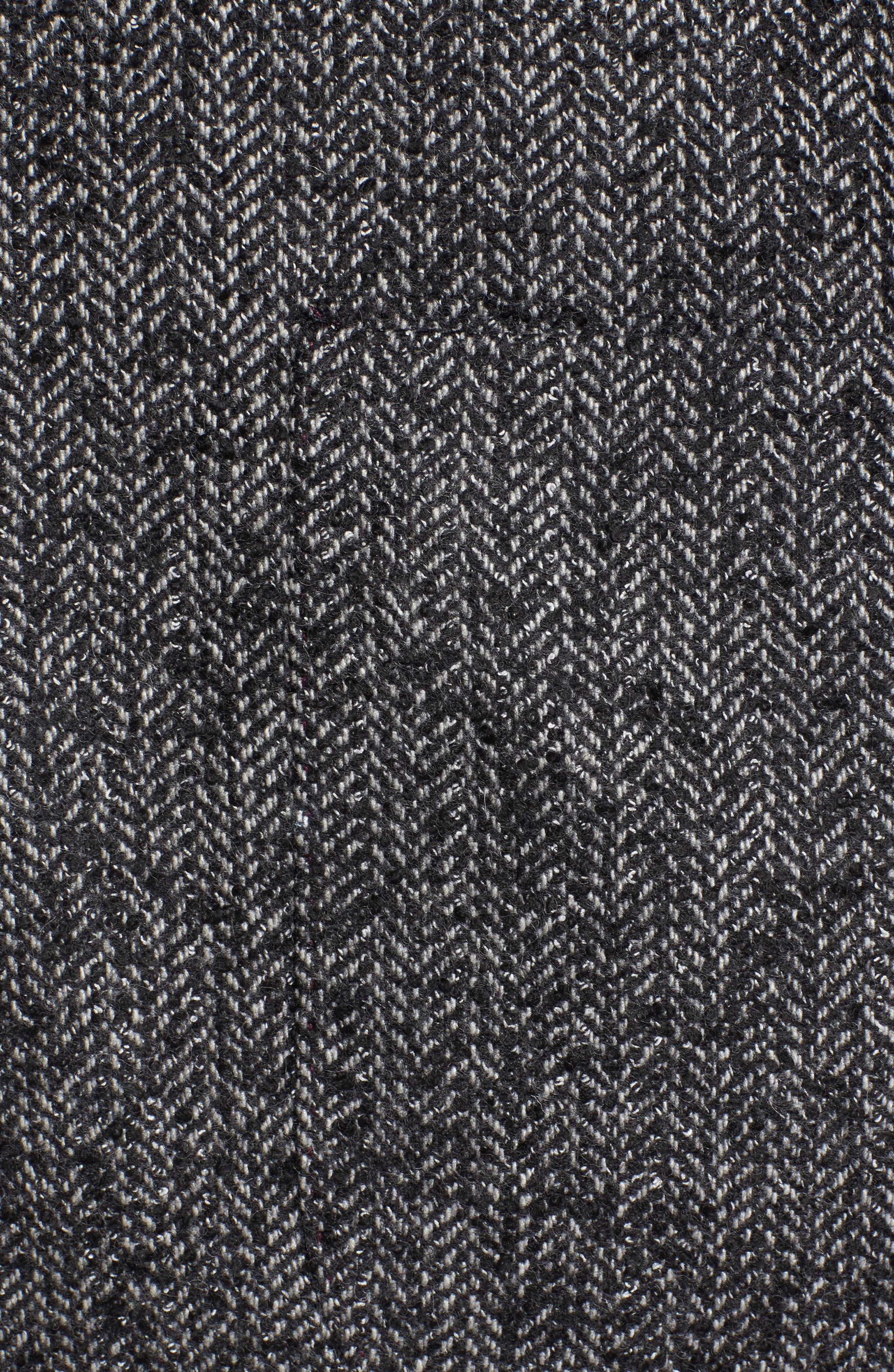 Herringbone Blazer,                             Alternate thumbnail 5, color,                             Charcoal