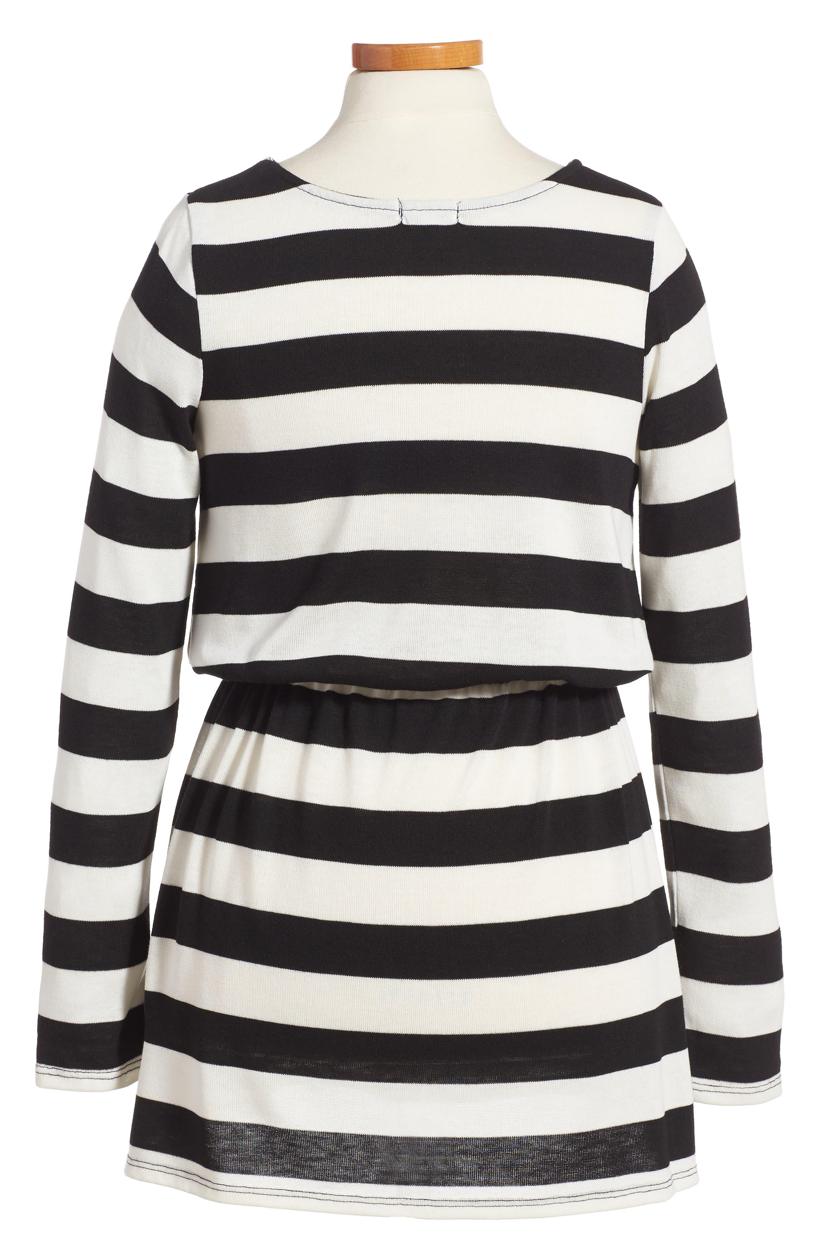 Stripe Dress,                             Alternate thumbnail 2, color,                             Stripe Black